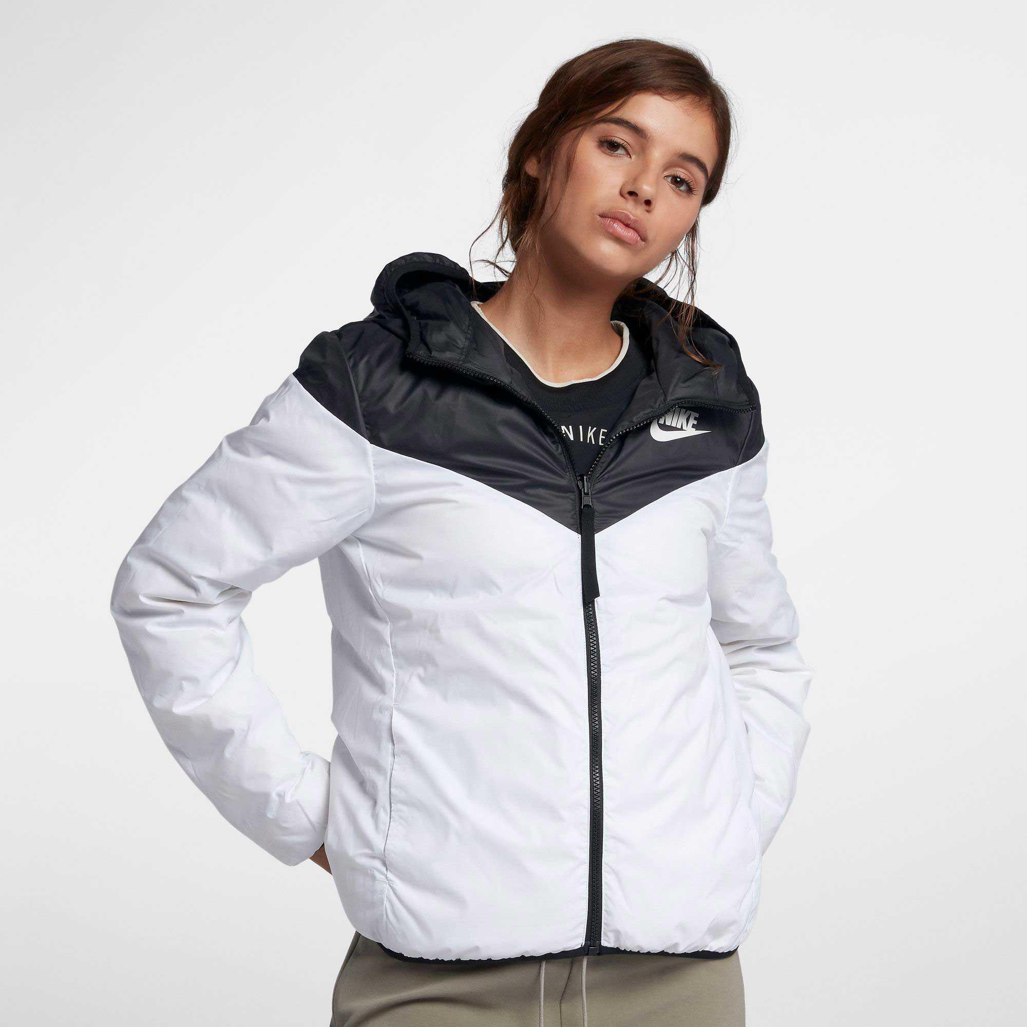 cadd5cff Nike Sportswear Windrunner Reversible Down Fill Jacket in Black - Lyst