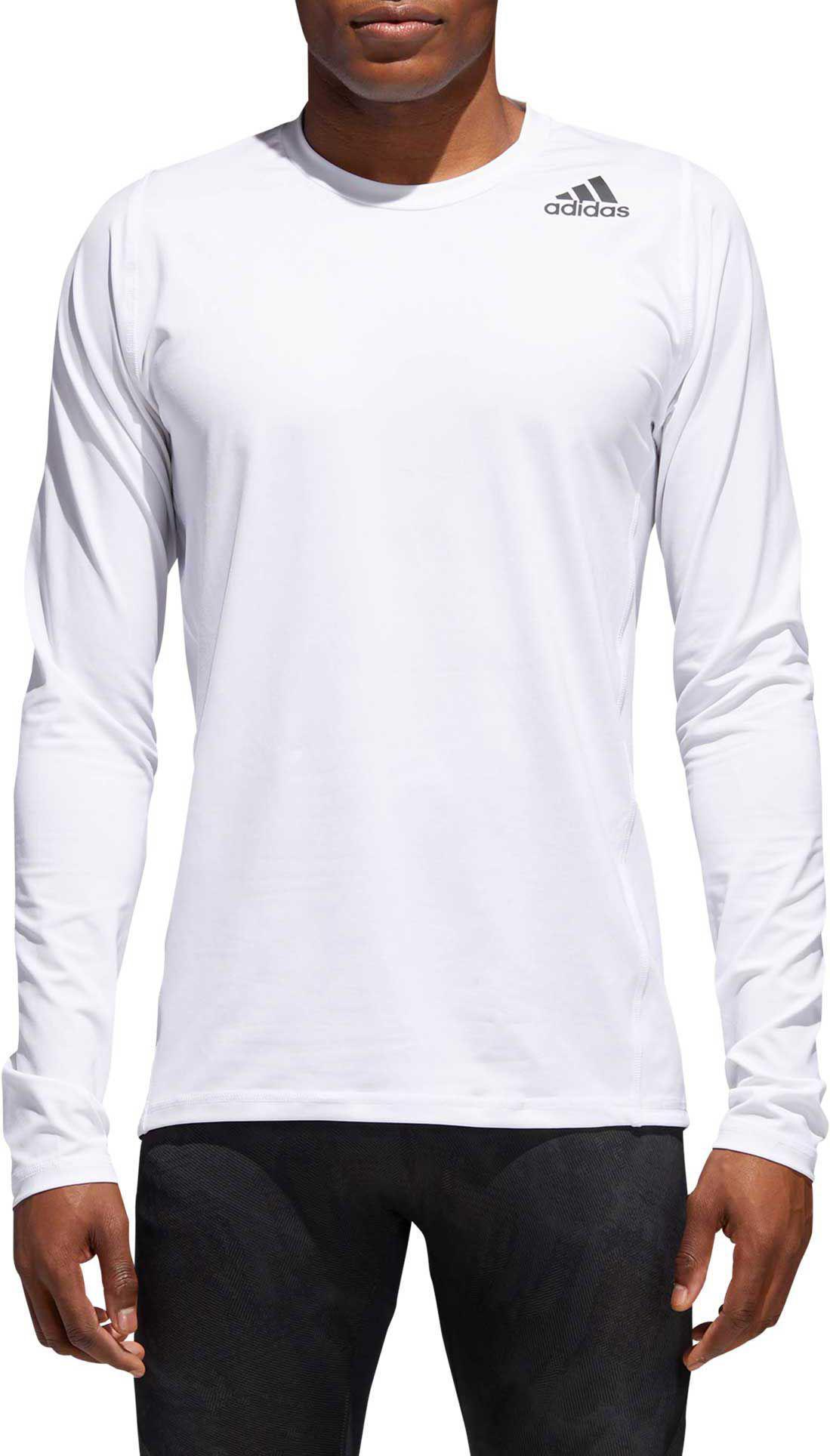 bbf5b59c3 Adidas - White Alphaskin Sport Fitted Long Sleeve Training T-shirt for Men  - Lyst. View fullscreen