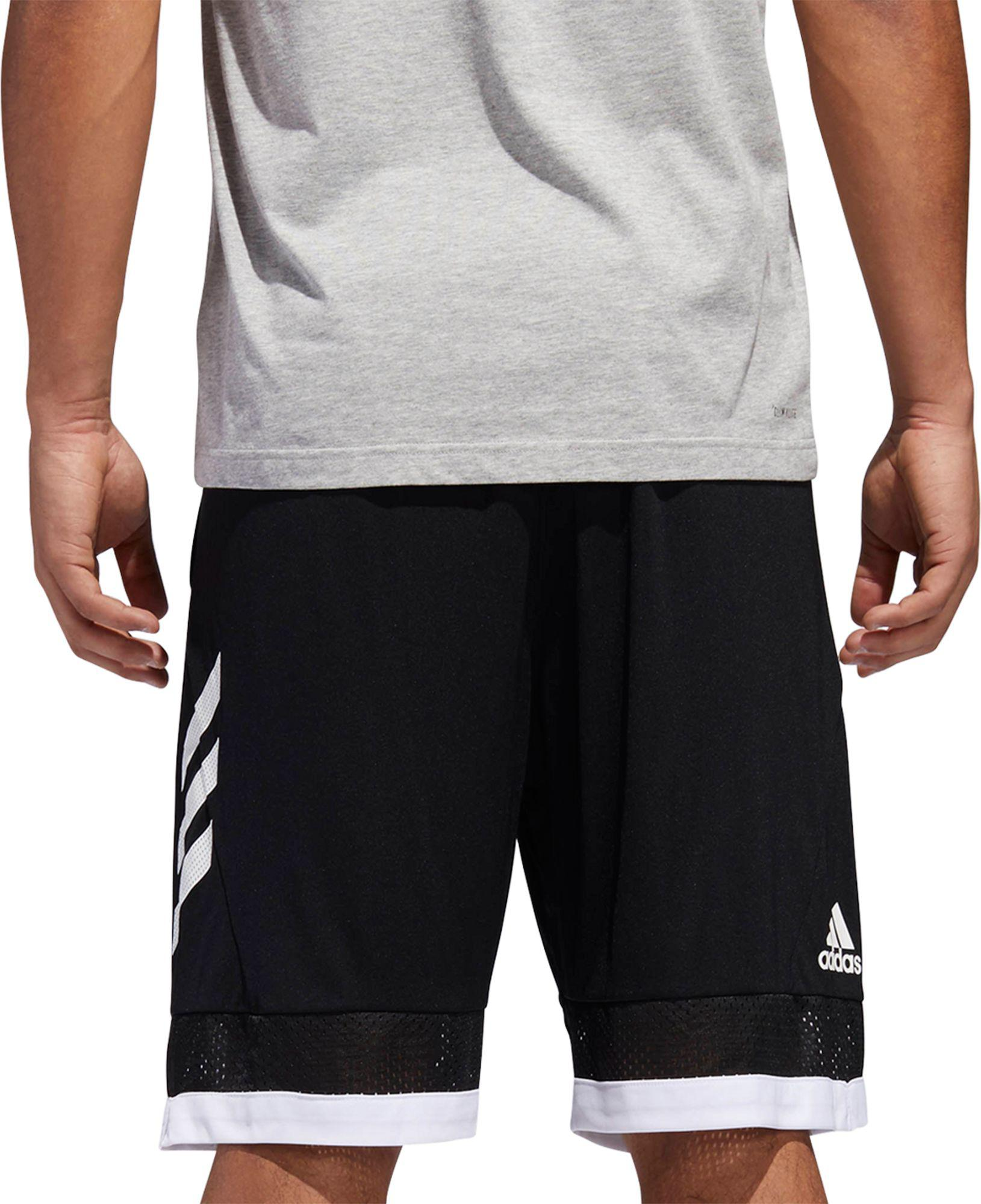 1829dd1bcafa Adidas - Black Pro Bounce Basketball Shorts for Men - Lyst. View fullscreen