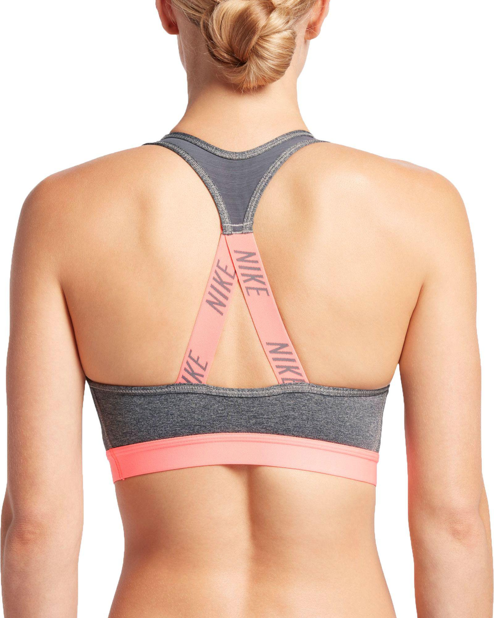 Nike - Multicolor Pro Classic Strappy Logo Padded Sports Bra - Lyst