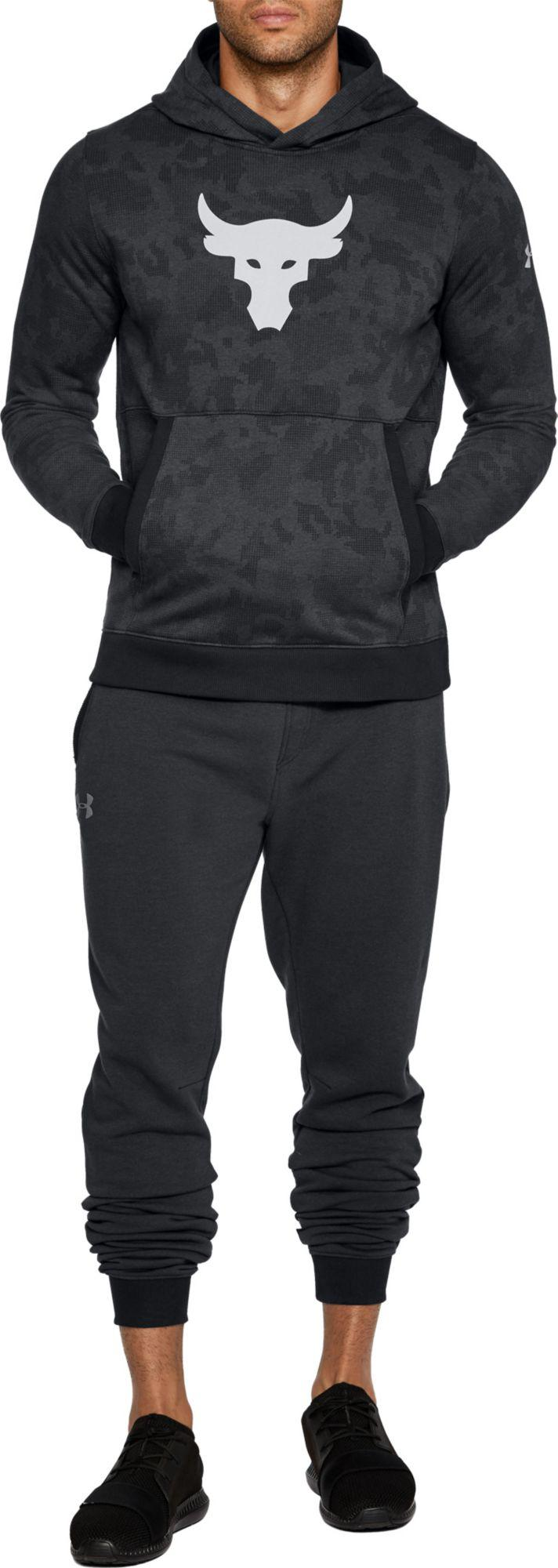 f7ca2ab75 Under Armour Project Rock Threadborne Pullover Hoodie in Black for ...