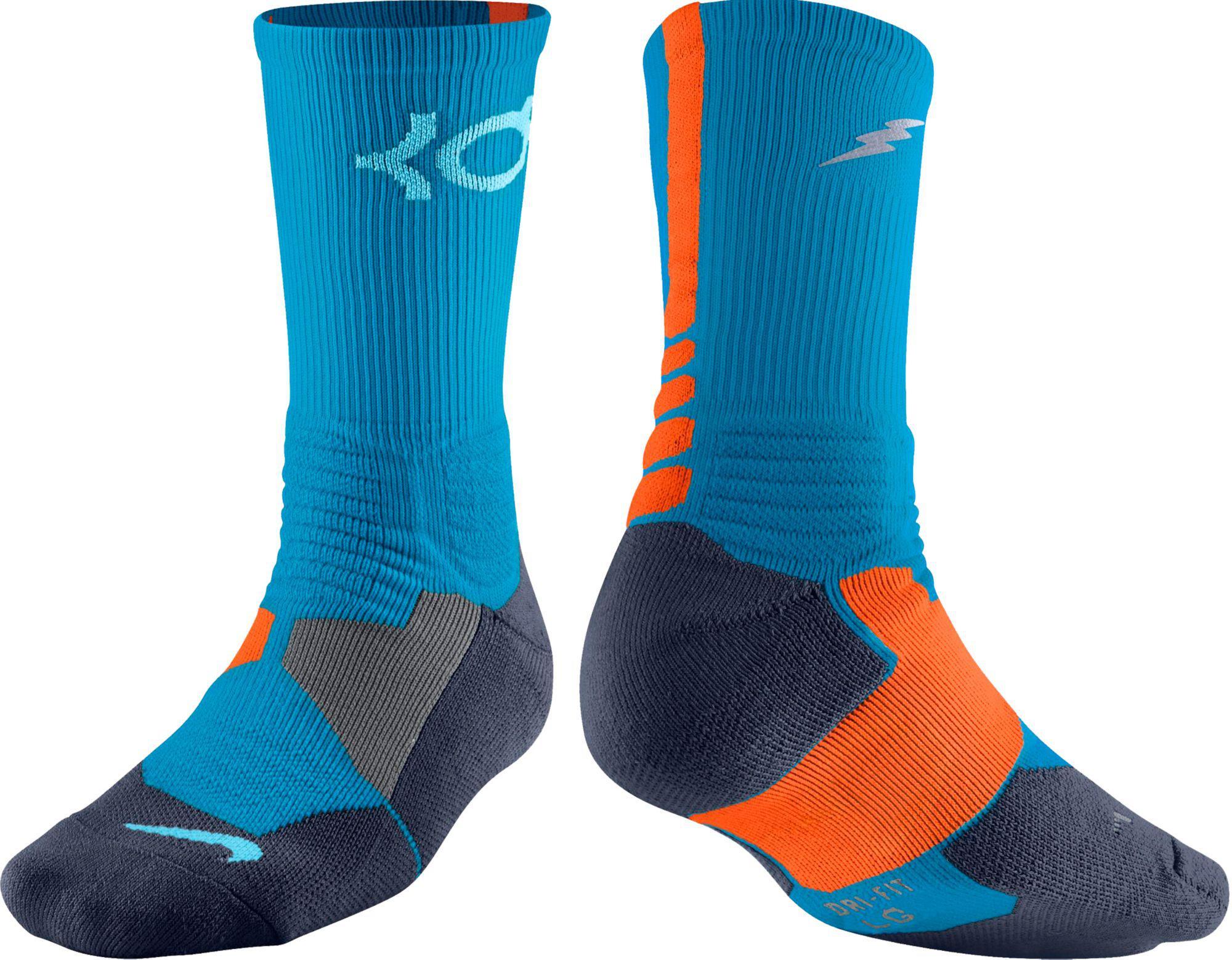 b57a102f9401 Lyst - Nike Kd Hyper Elite Crew Basketball Socks in Blue for Men