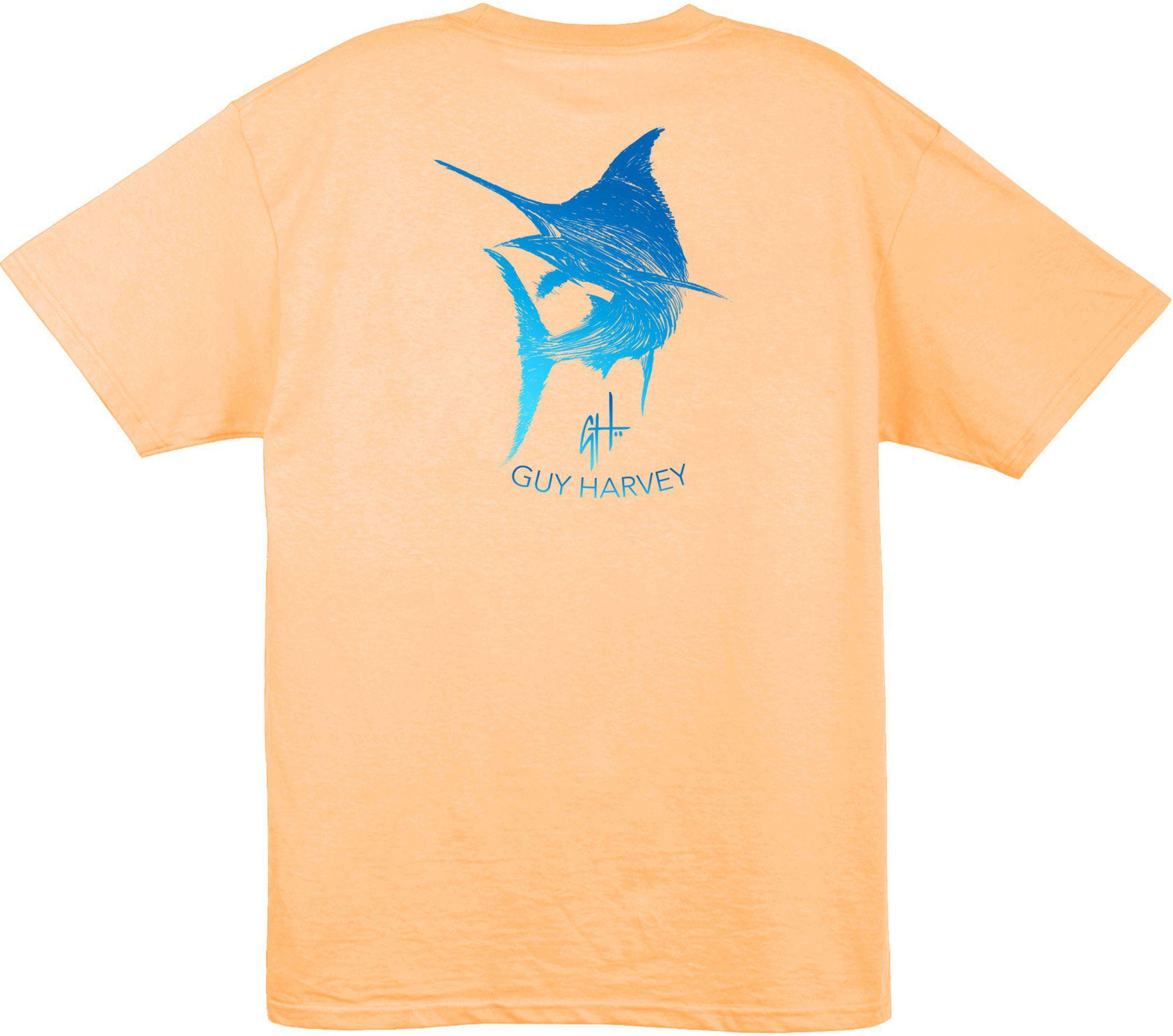 bf14eeb2b1a3 Guy Harvey - Orange Marlin Scribble T-shirt for Men - Lyst. View fullscreen
