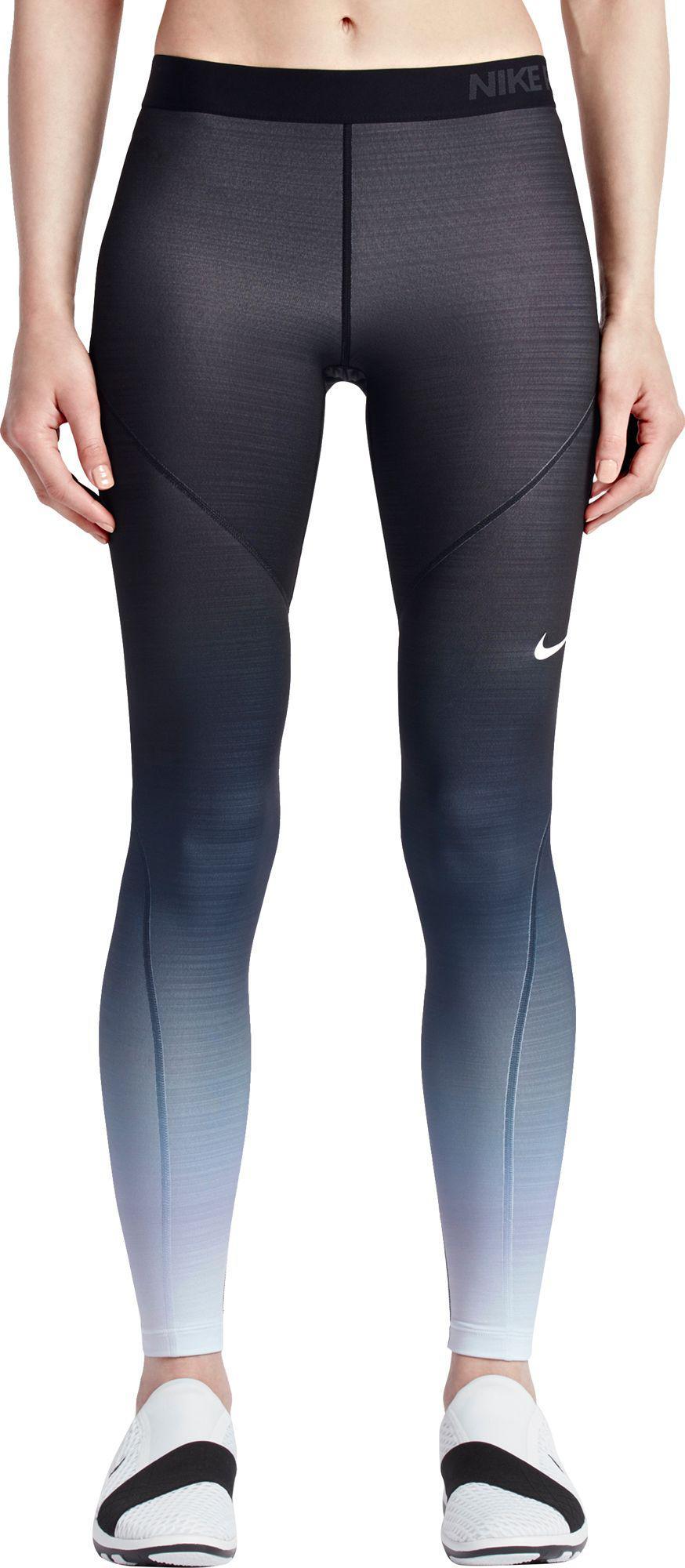 3f4e2795106de8 Nike Pro Hyperwarm Fade Printed Tights in Black - Lyst