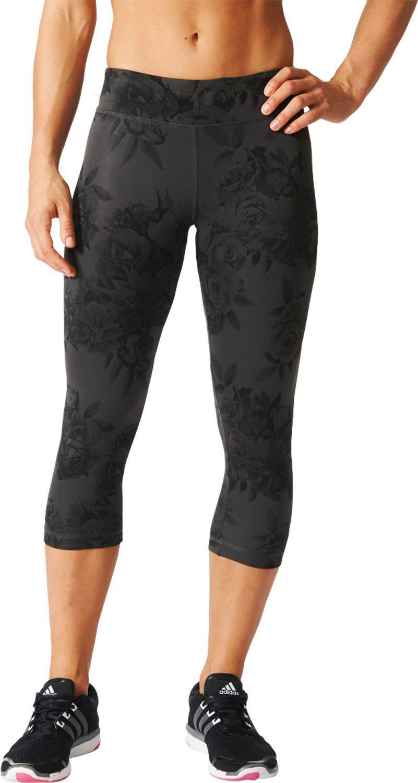 77fdc8275ee6 Lyst - Adidas Originals Techfit Floral Print Capris in Black