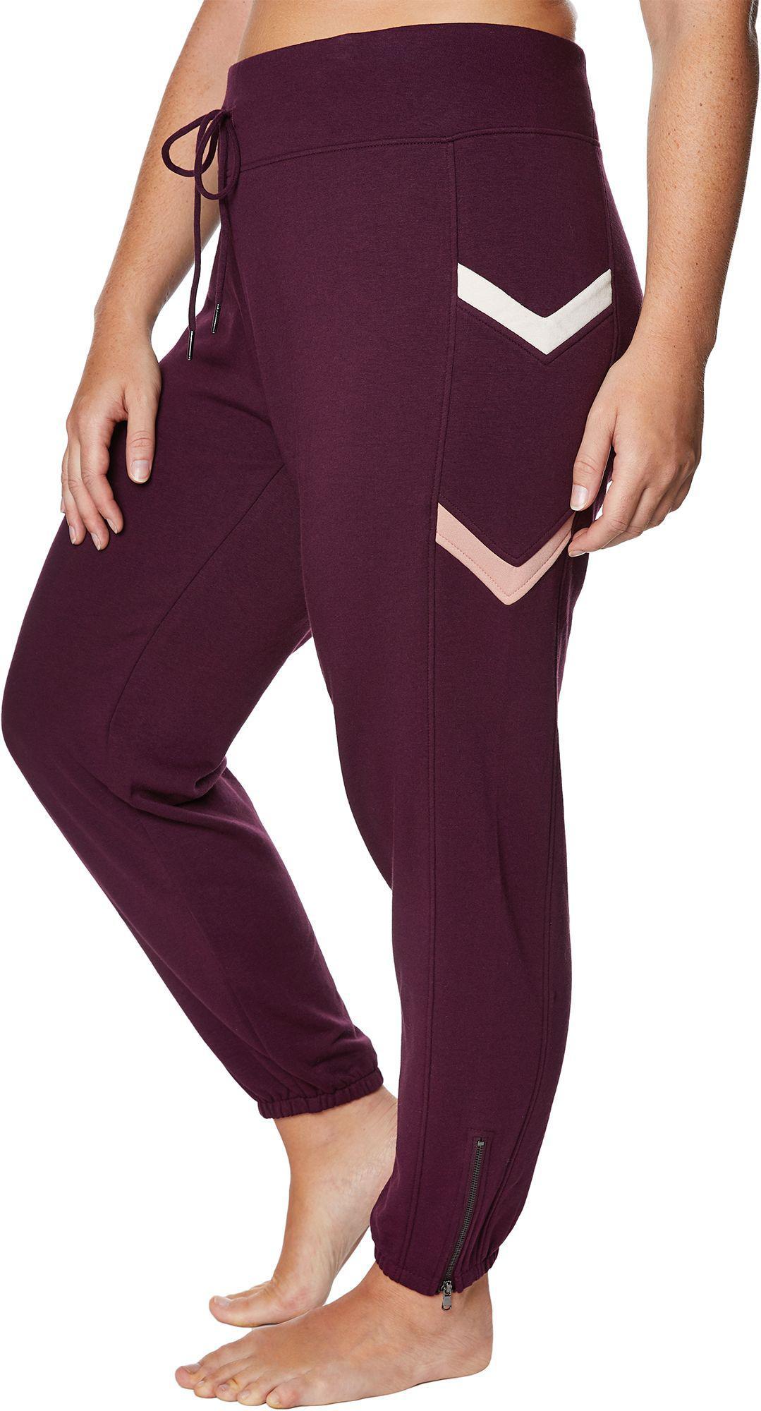 5fd38584f3b Betsey Johnson - Purple Plus Size Chevron Colorblock Sweatpants - Lyst.  View fullscreen