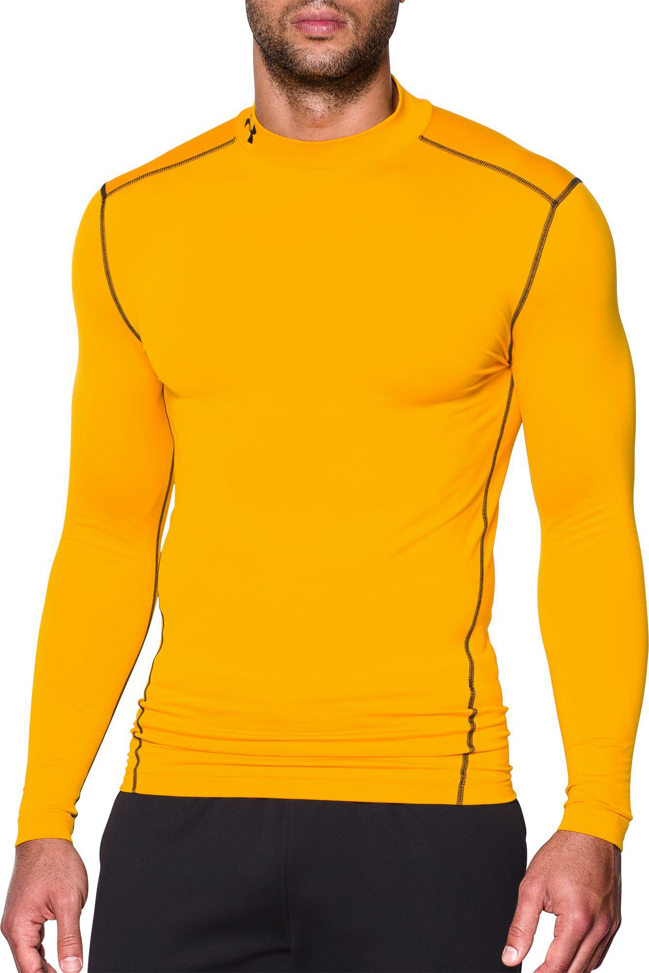 7e88535b0 Under Armour - Black Coldgear Armour Compression Mock Neck Long Sleeve Shirt  for Men - Lyst