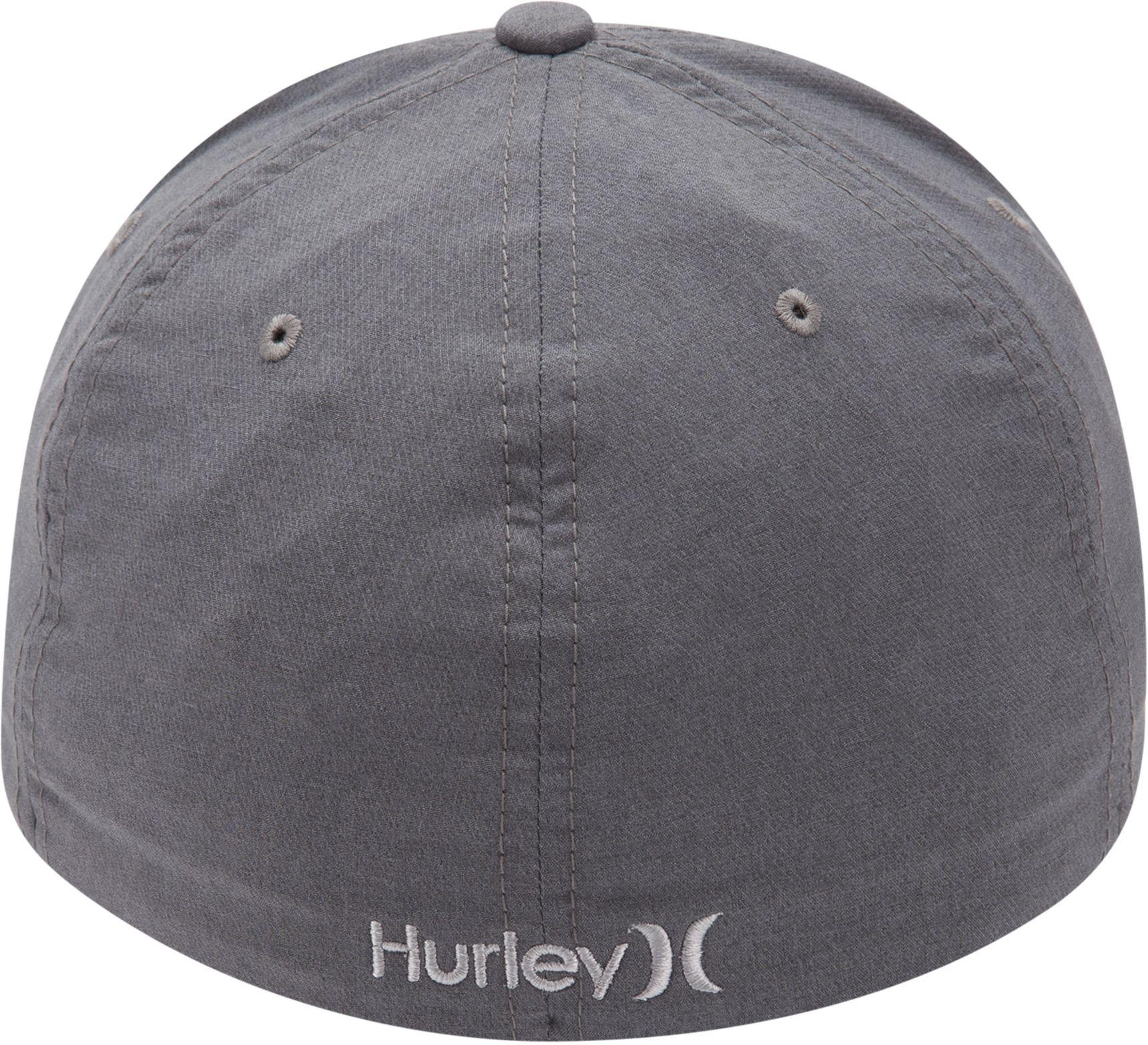 low priced 49163 7969c ... sweden new styles beda9 b59fe lyst hurley dri fit heather flexfit hat  in gray for af506