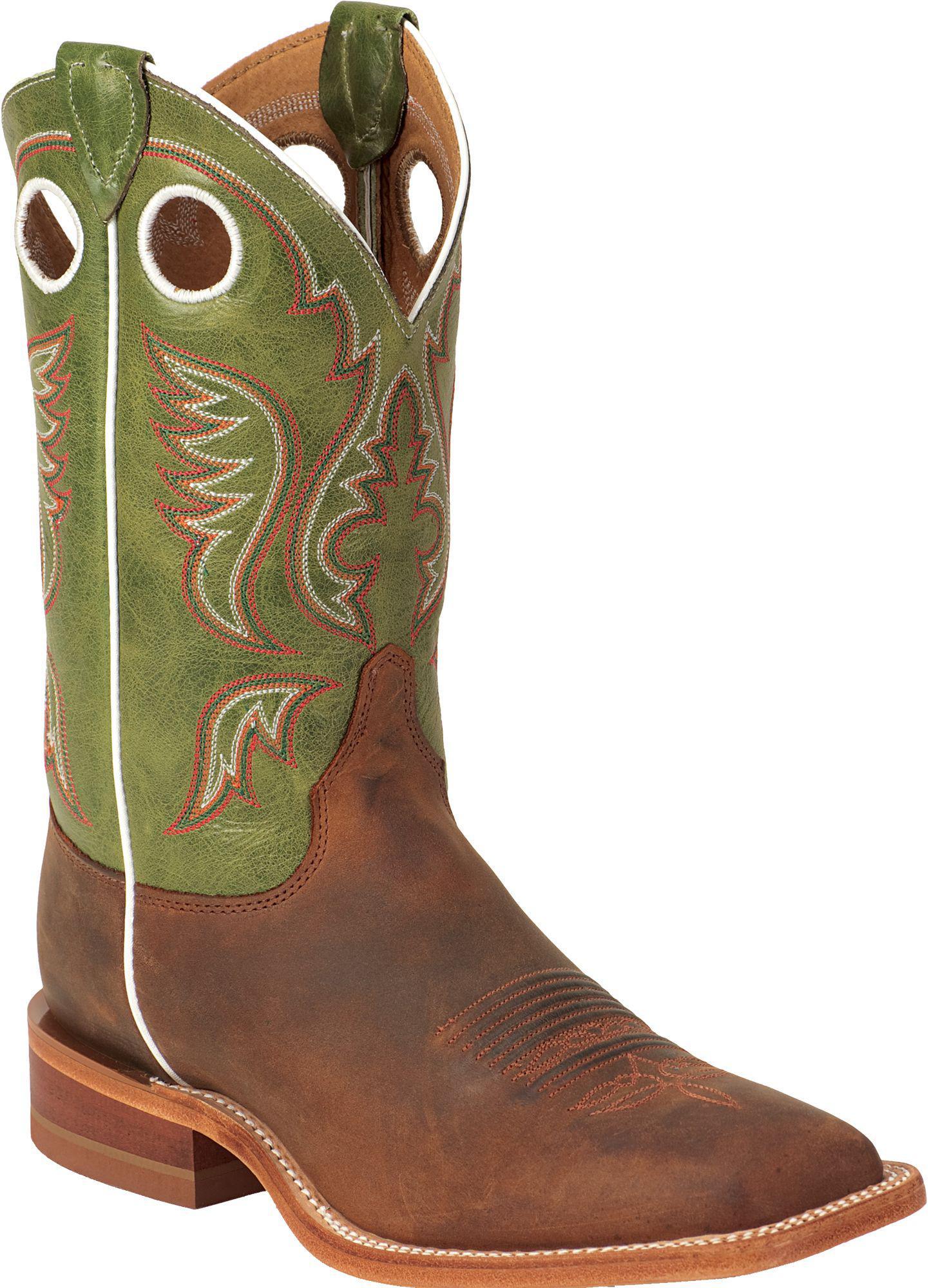 317cbd1462a Lyst - Justin Boots Justin Cognac Bent Rail Square Toe Western Boots ...