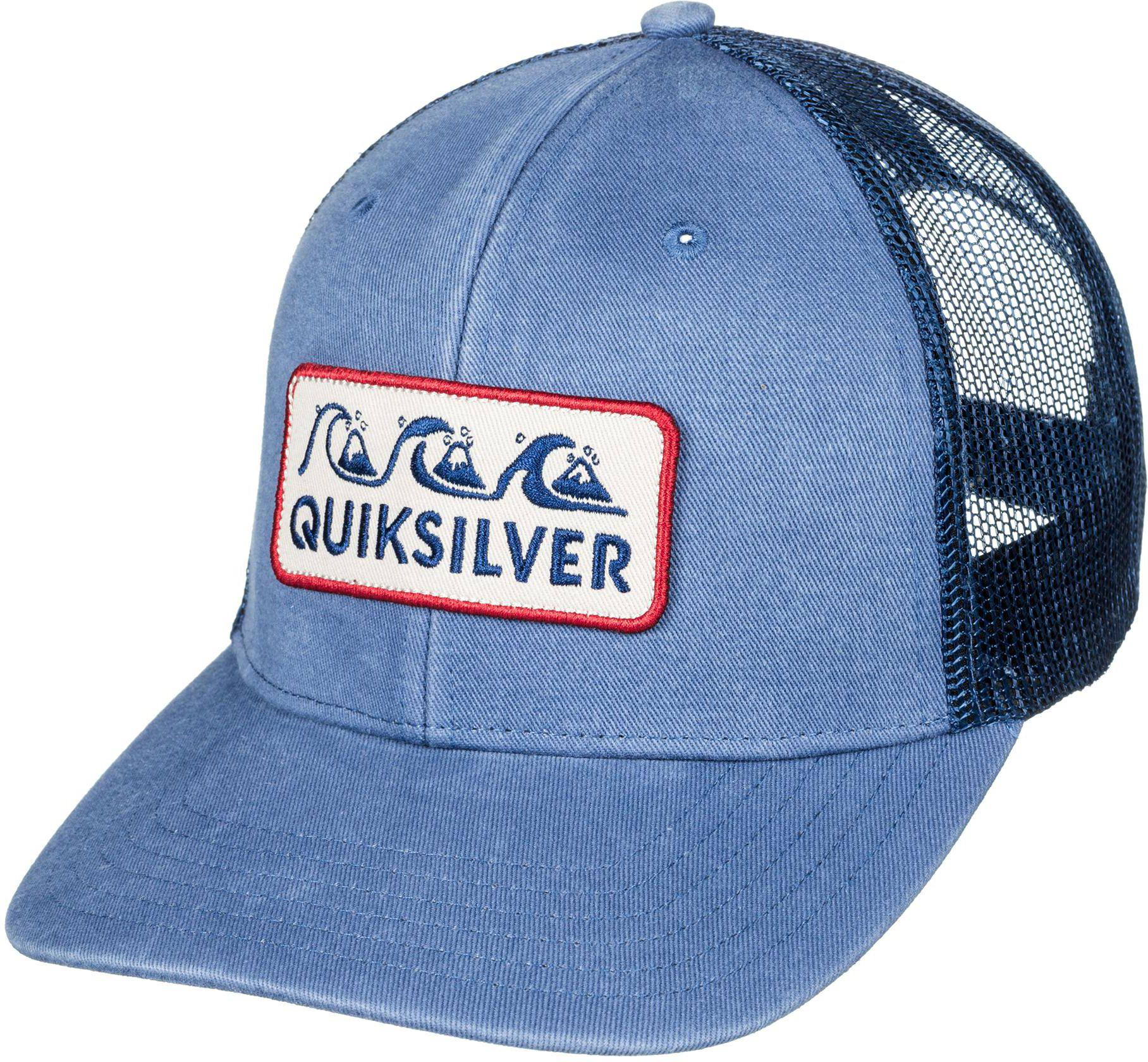 Lyst - Quiksilver Wharf Beater Trucker Hat in Blue for Men d08e82f3d78