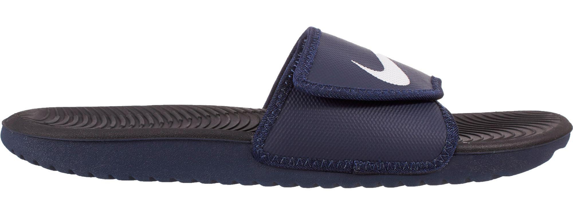 d6d835749 Nike Kawa Adjustable Slides in Blue for Men - Lyst