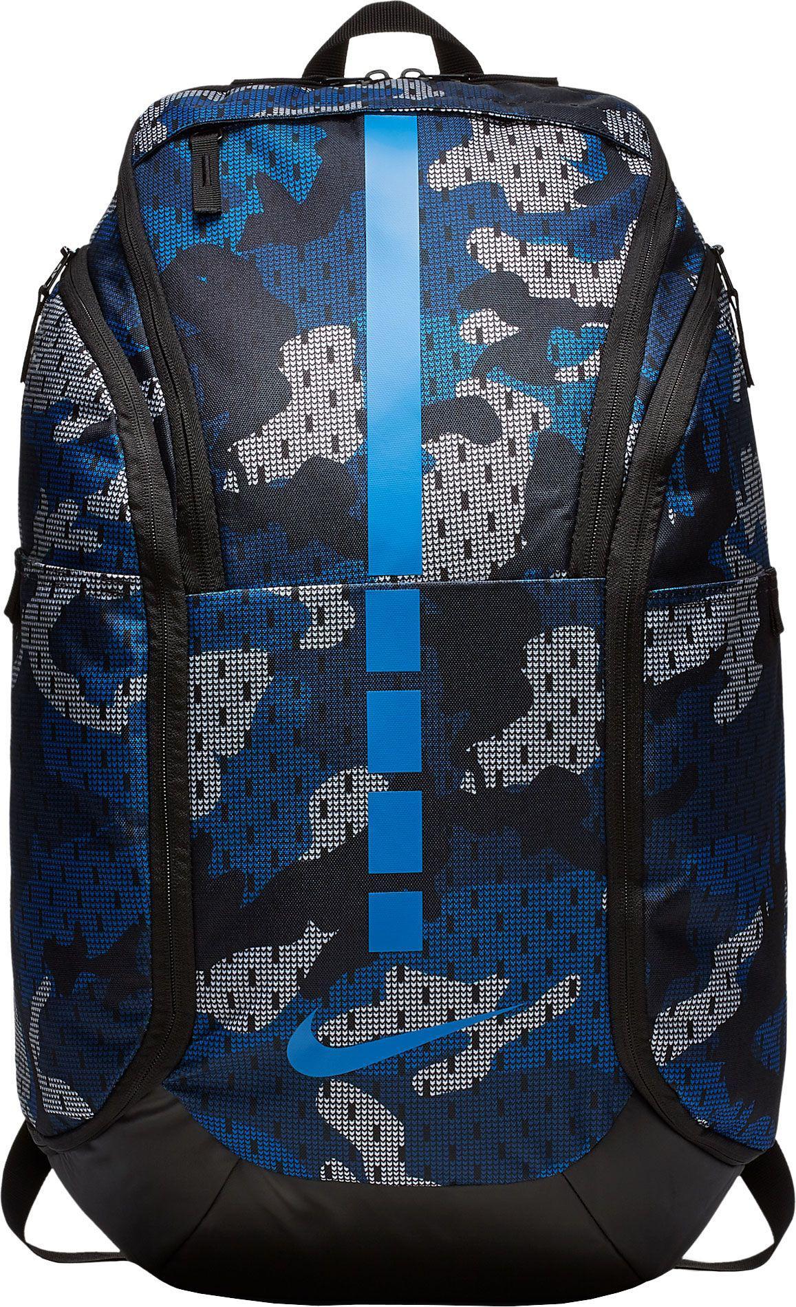 Lyst - Nike Hoops Elite Pro Camo Basketball Backpack in Blue for Men c495bdd5741b5