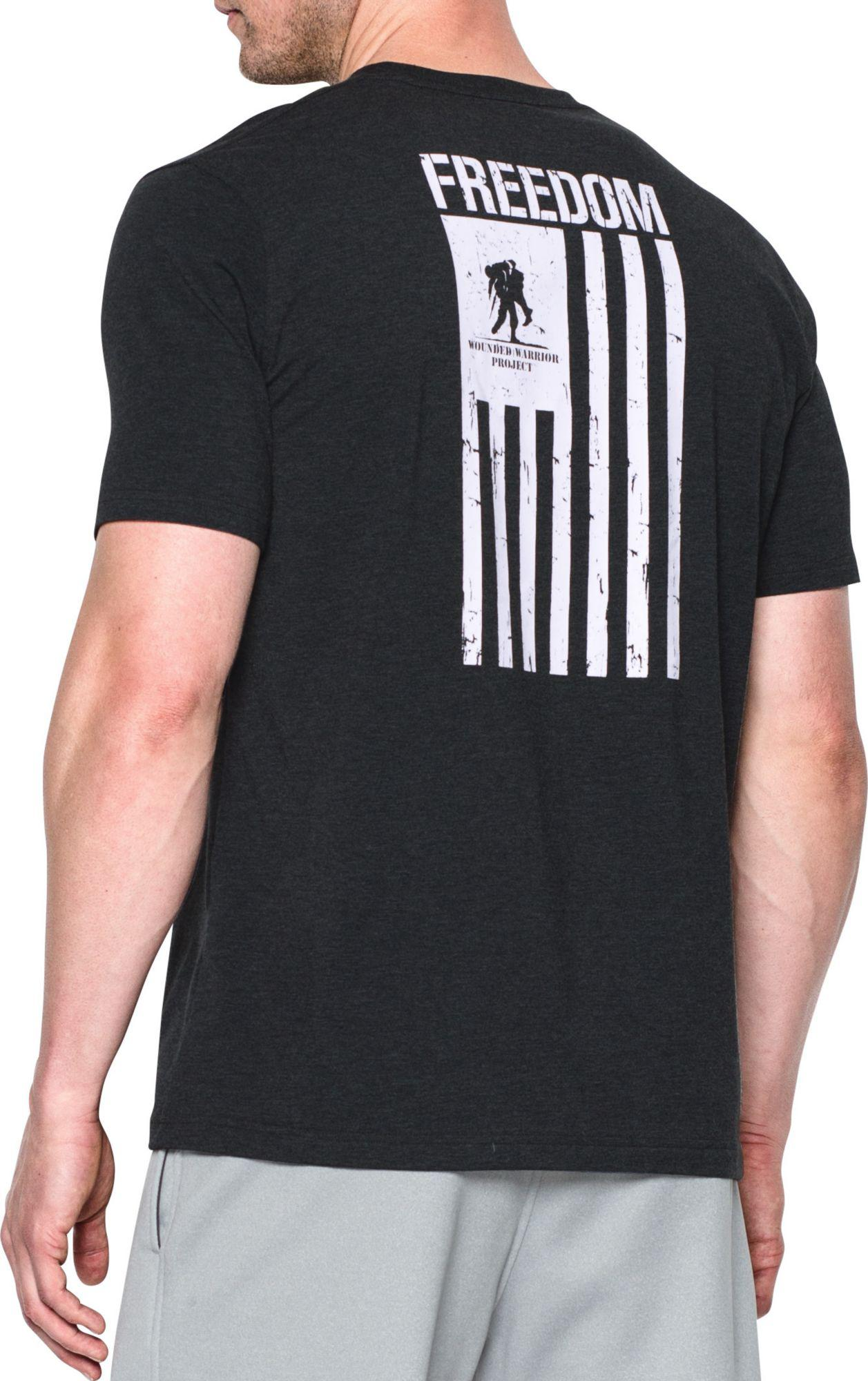 1efe0dc6 Lyst Under Armour Wounded Warrior Project Freedom Flag T Shirt In