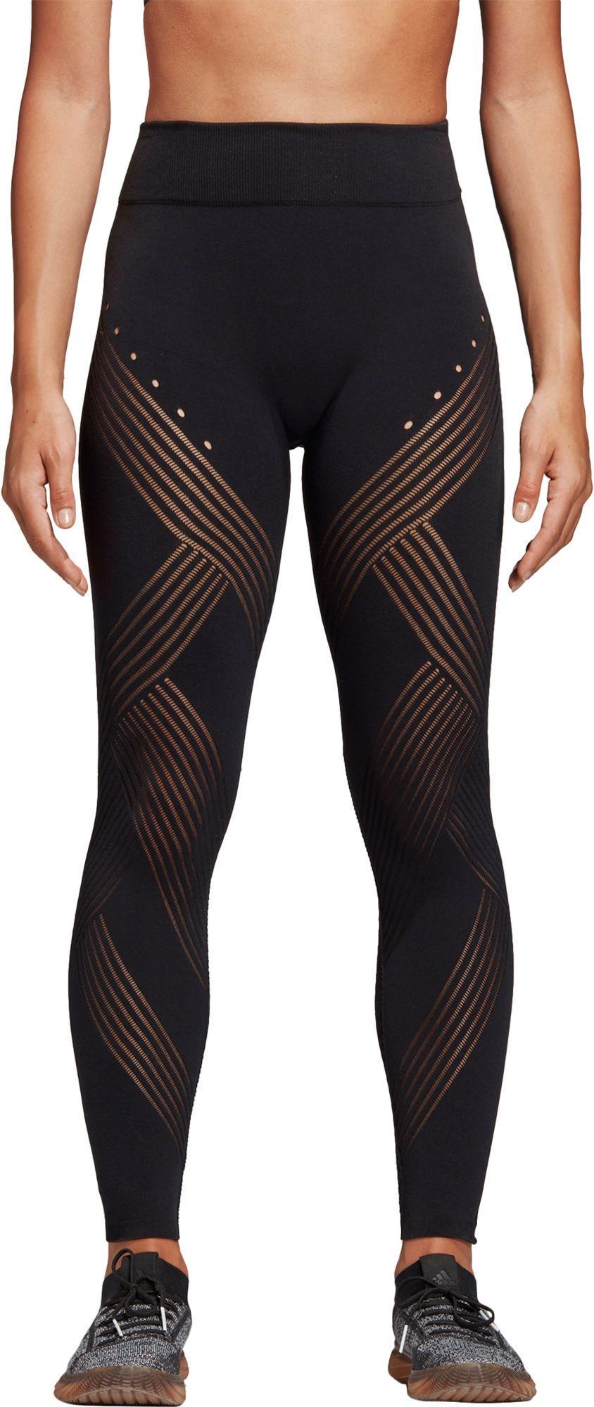 04603e5a827 Lyst - adidas Warp Knit High-rise 7/8th Length Tights in Black