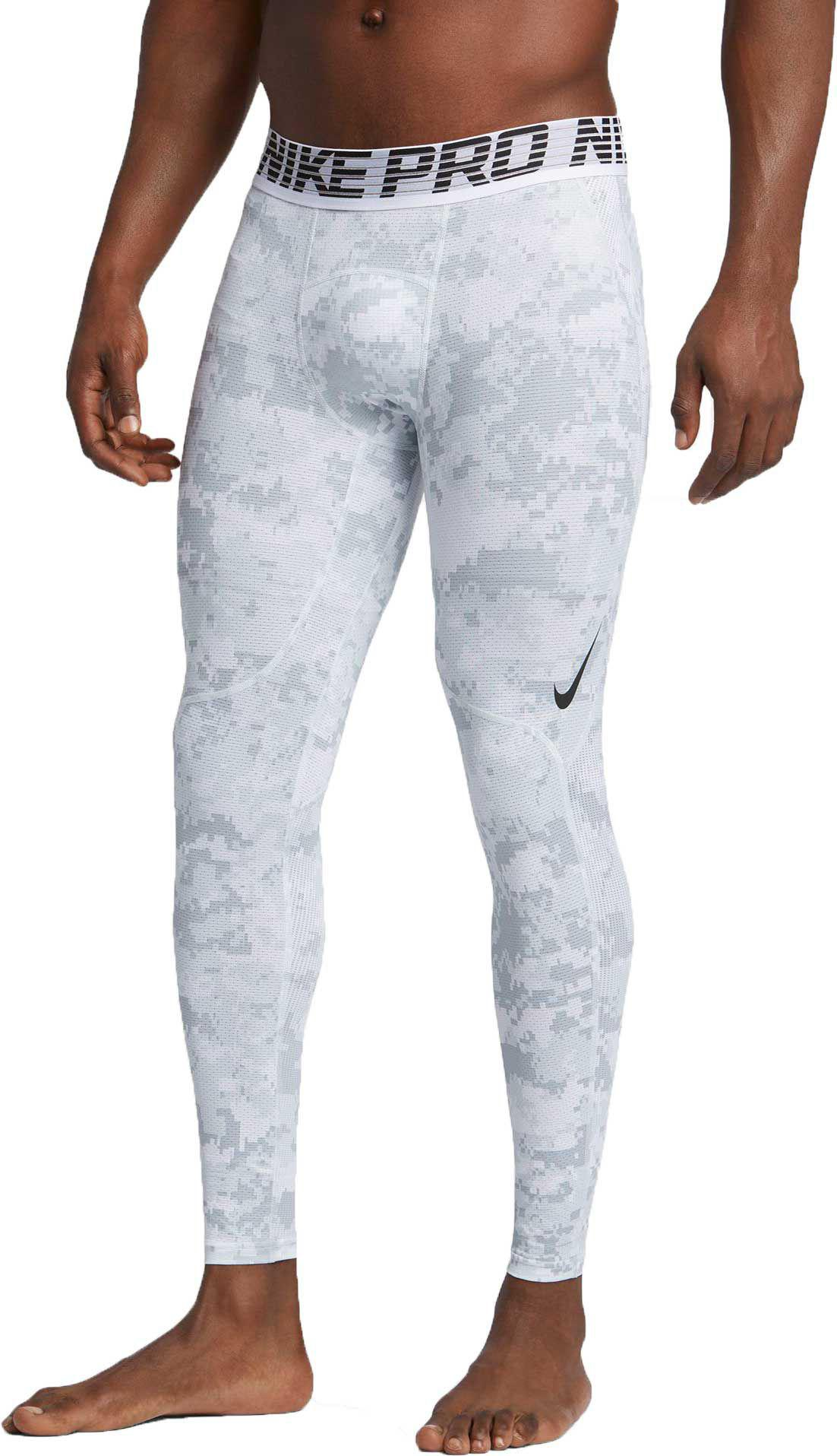 f9fd9d7026ef0 Nike Pro Hypercool Digi Camo Printed Tights in White for Men - Lyst