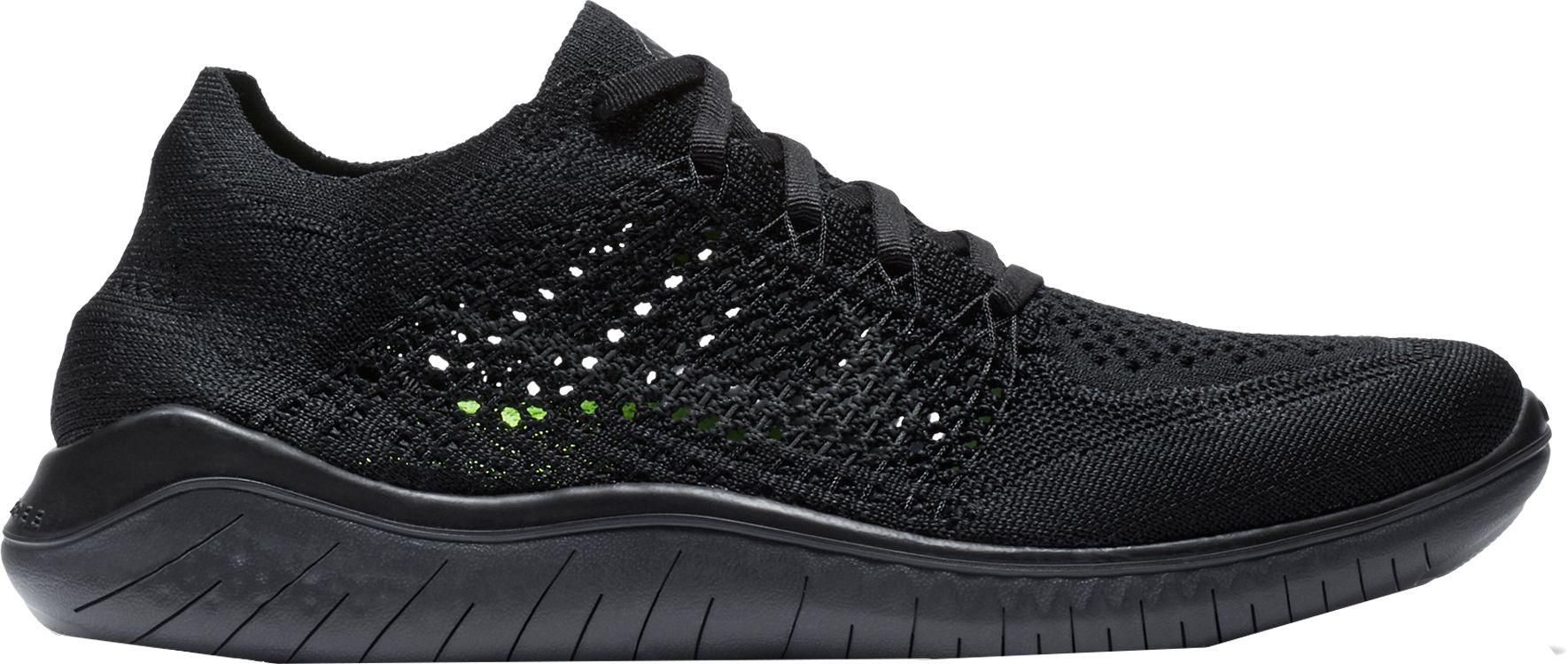 a39b012317e14 ... clearance nike black free rn flyknit 2018 running shoes lyst 90fd9 dfc37