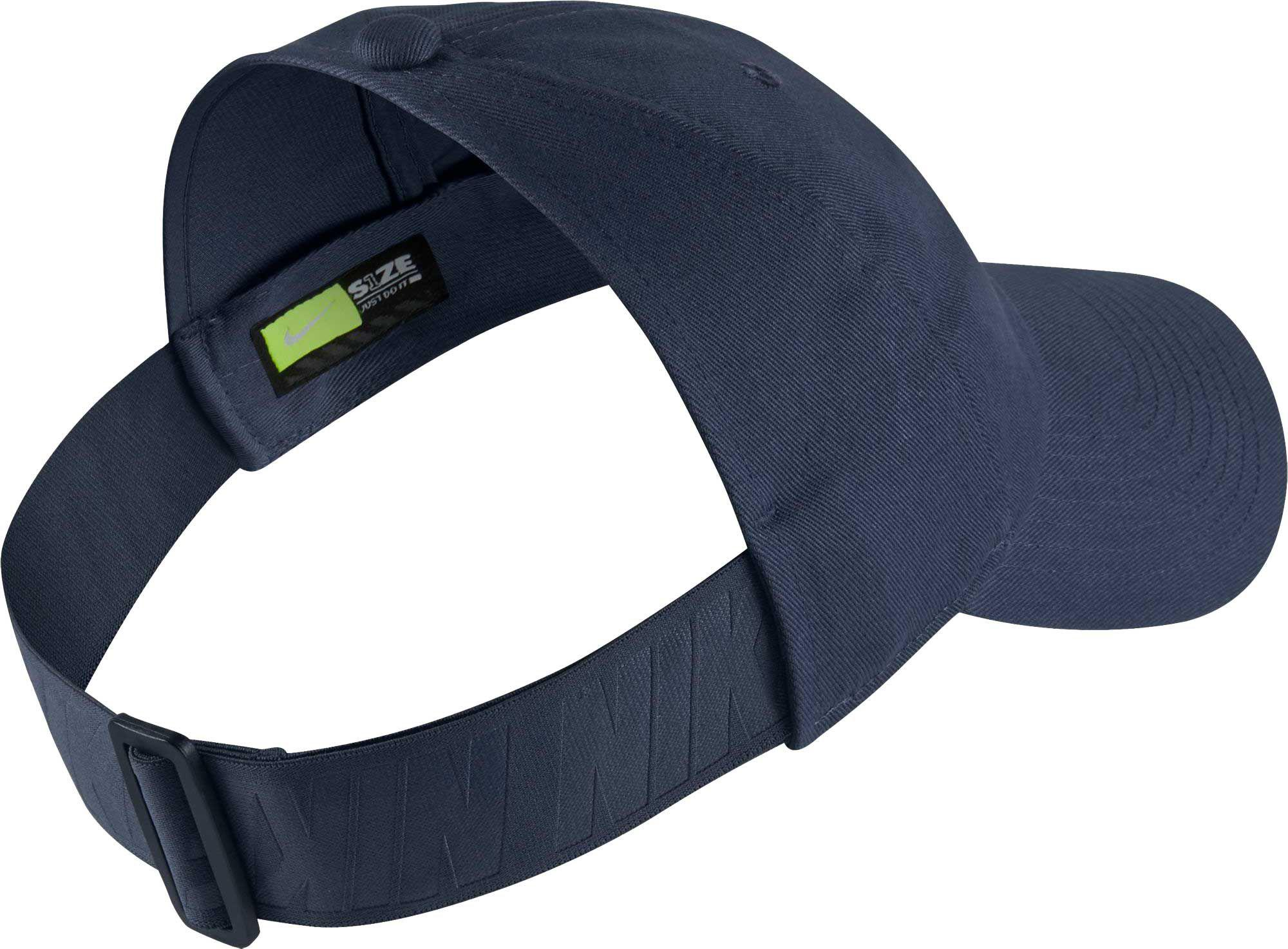 d25518e5af0519 Nike Sportswear Open Back Visor Hat in Blue - Lyst