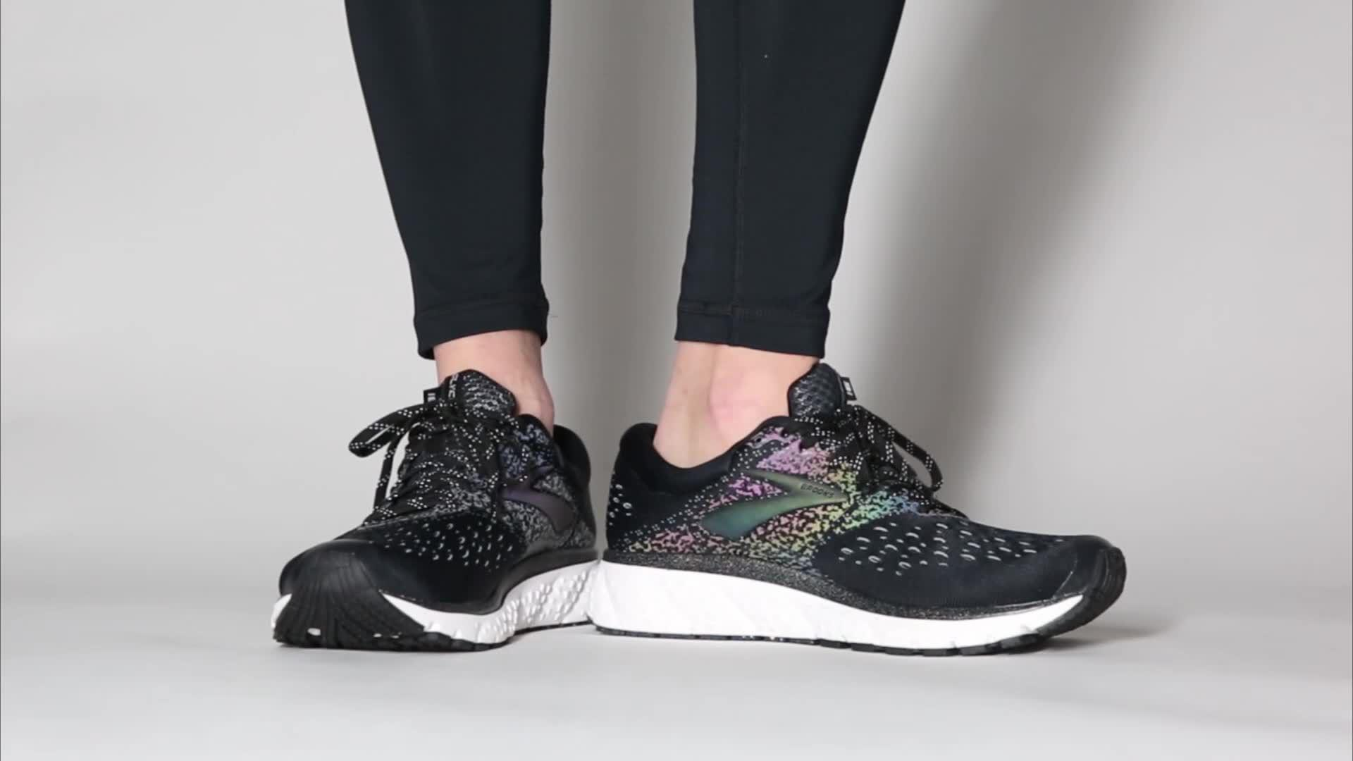673b9cd1285 Lyst - Brooks Glycerin 16 Reflective Running Shoes in Black