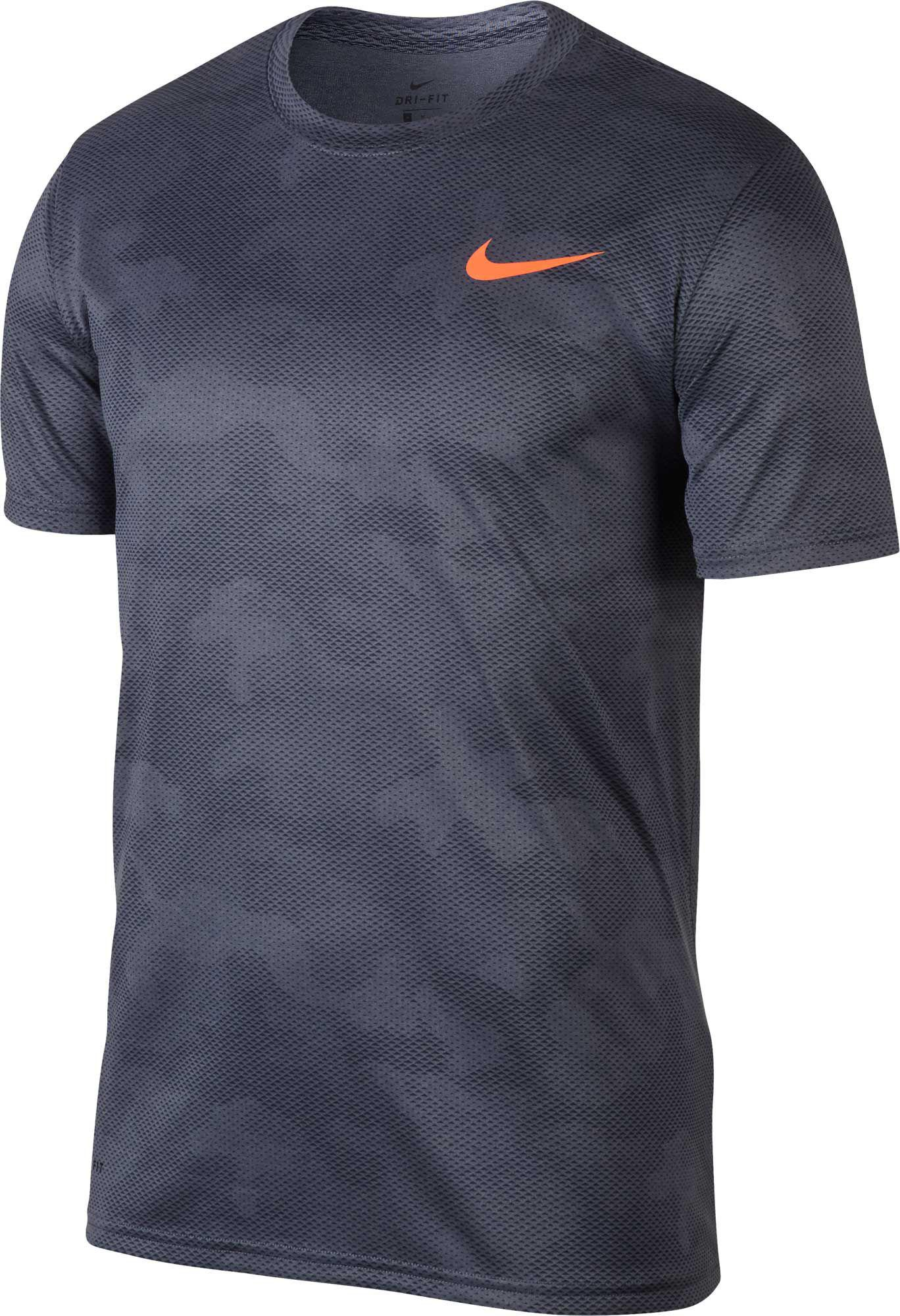 9cd7120a140 Lyst - Nike Dry Legend Camo Training T-shirt in Blue for Men
