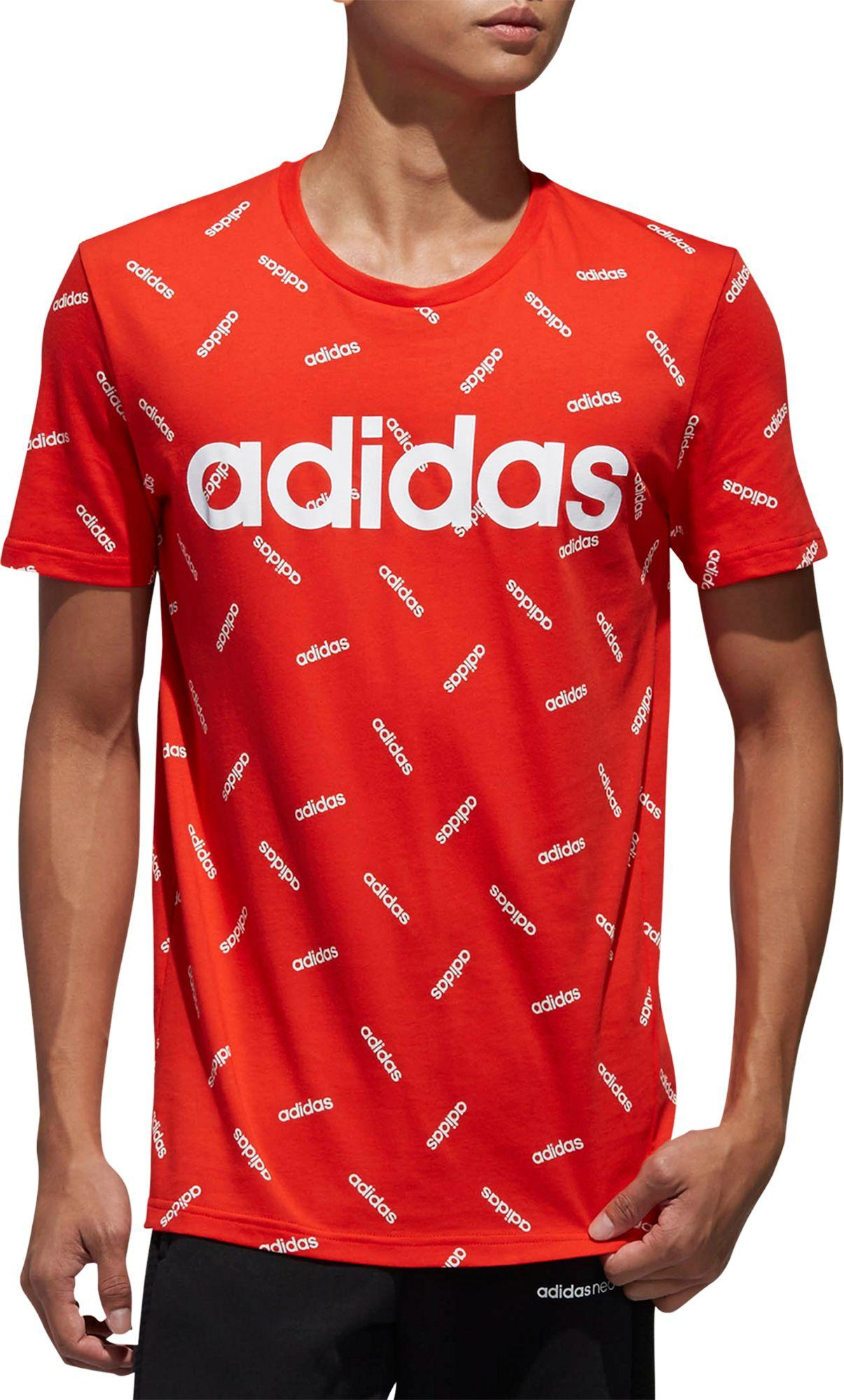76ed147e Adidas - Red Printed Graphic T-shirt for Men - Lyst. View fullscreen