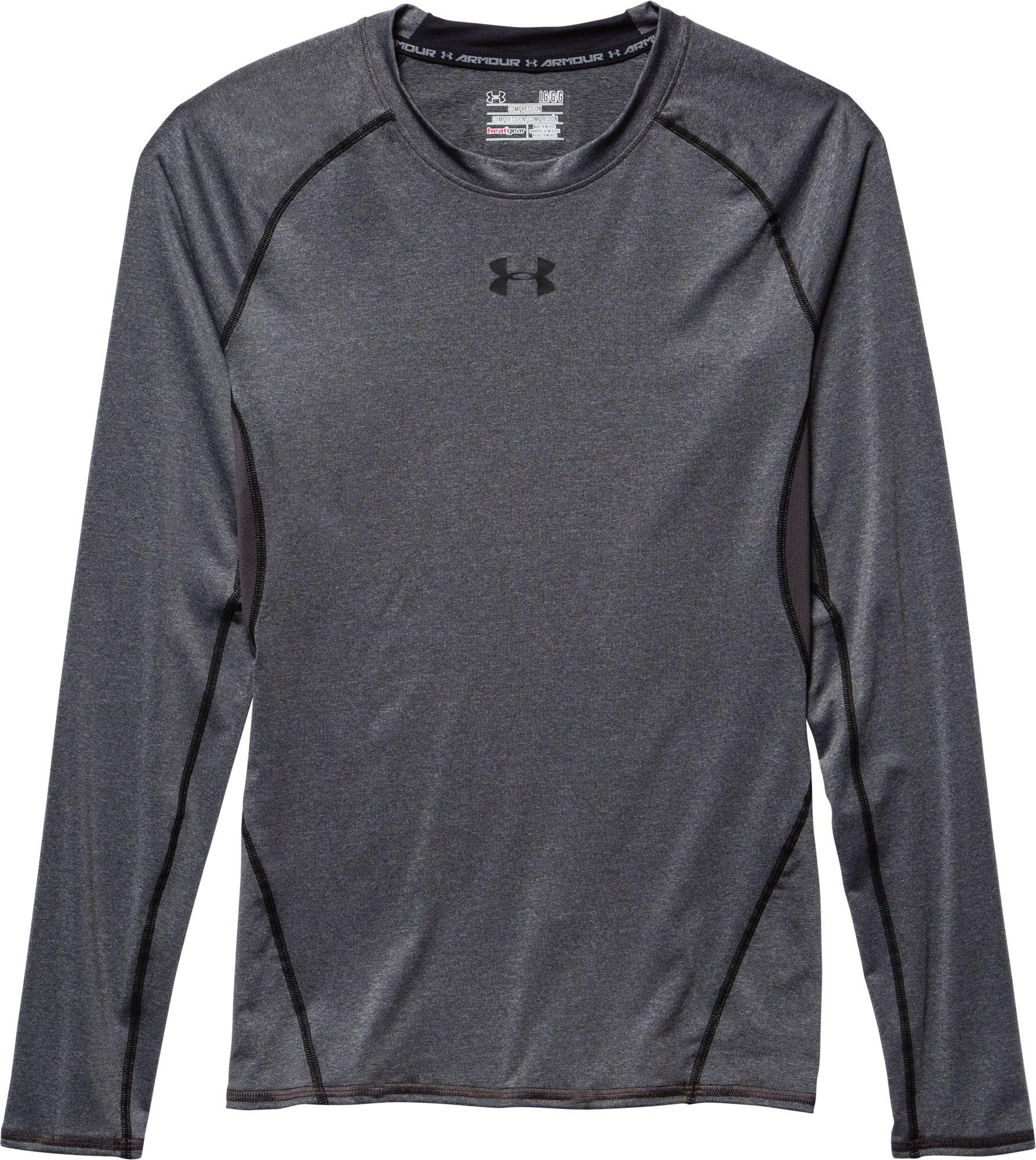 2429272a Under Armour Heatgear Armour Long Sleeve Shirt in Black for Men - Lyst