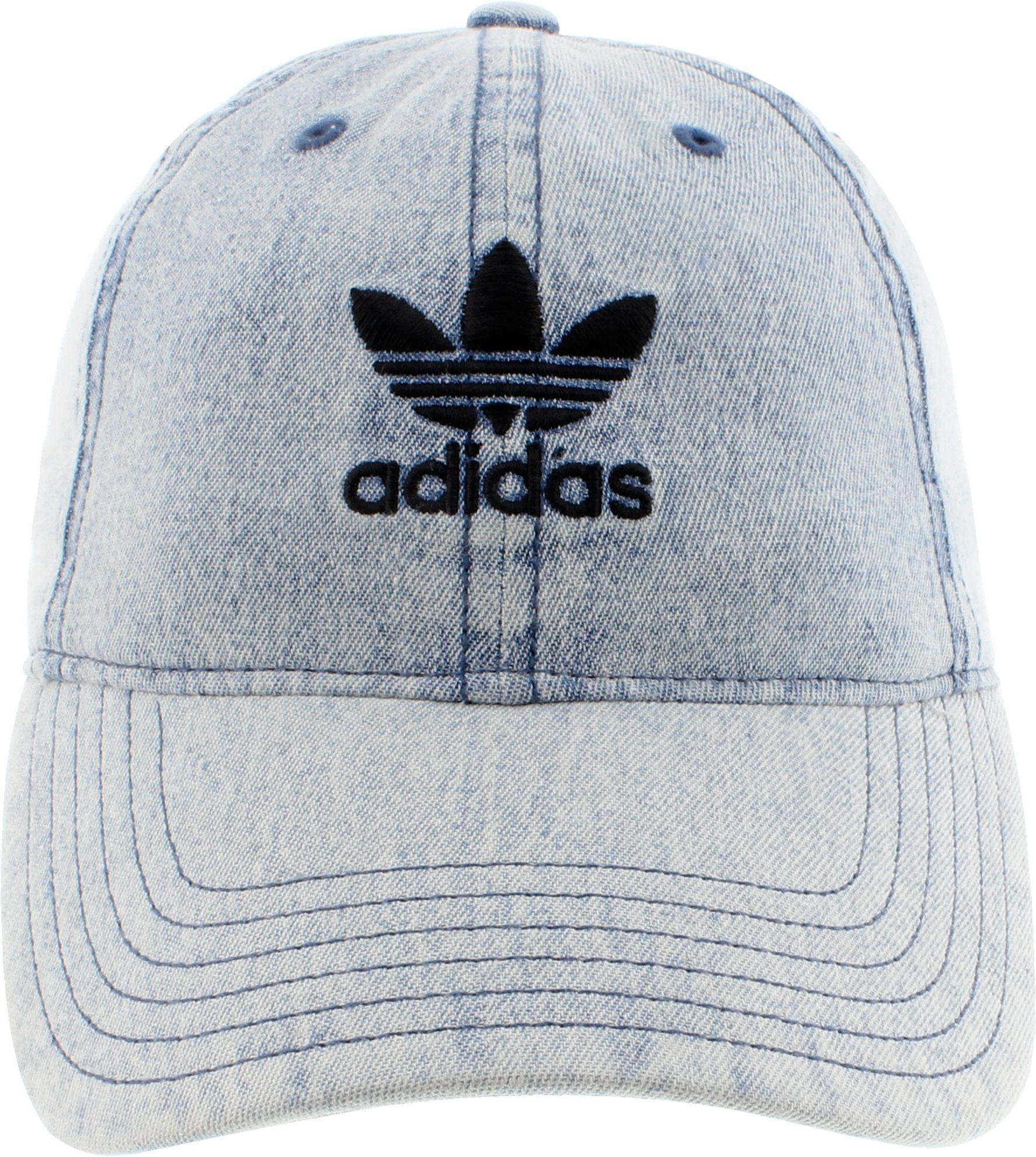 5e26bd1b74b Adidas - Blue Originals Relaxed Denim Cap - Lyst. View fullscreen