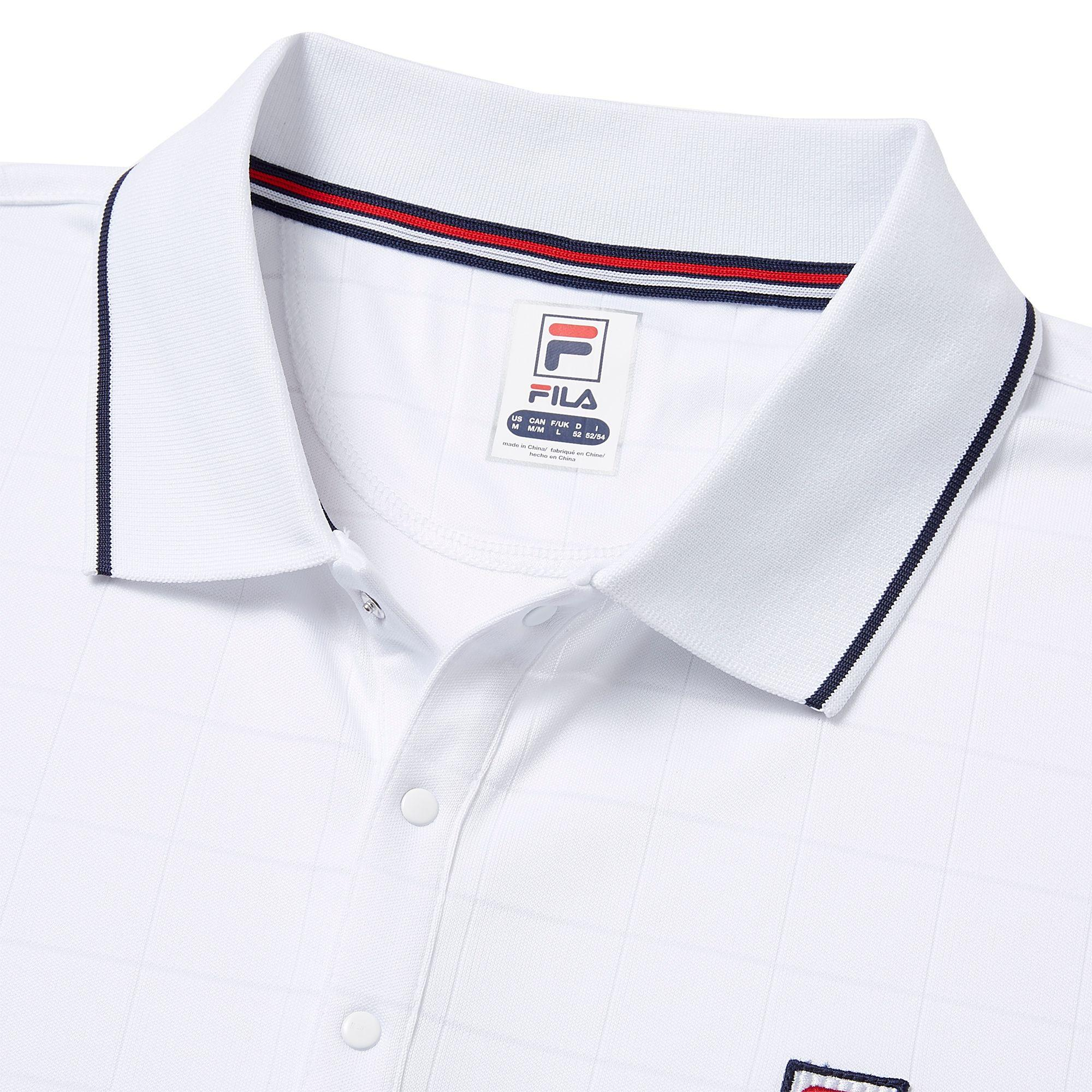 706327e1182 Fila - White Heritage Drop Needle Tennis Polo for Men - Lyst. View  fullscreen