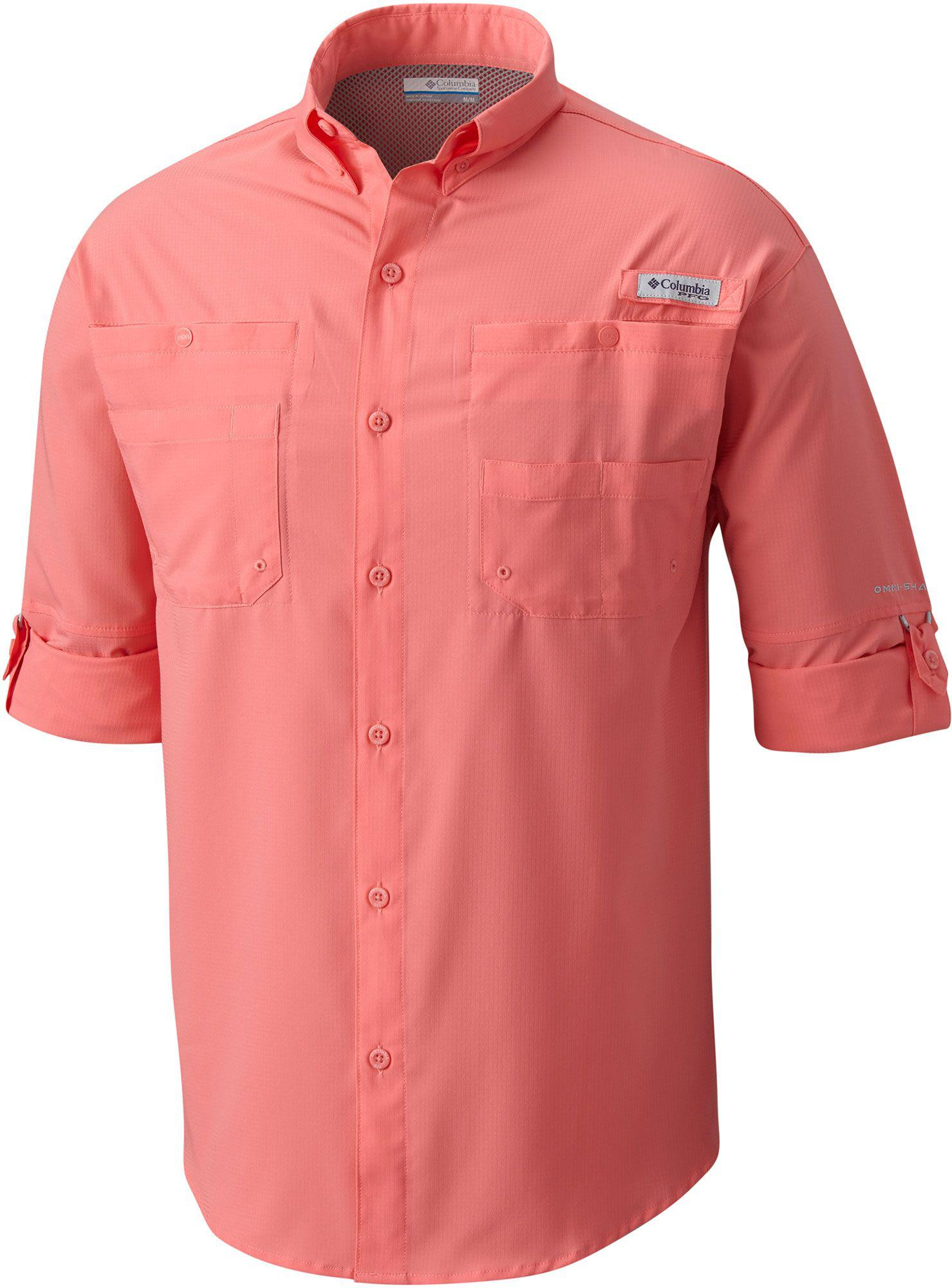 74c150b0e1a Columbia Pfg Tamiami Ii Long Sleeve Shirt in Pink for Men - Lyst