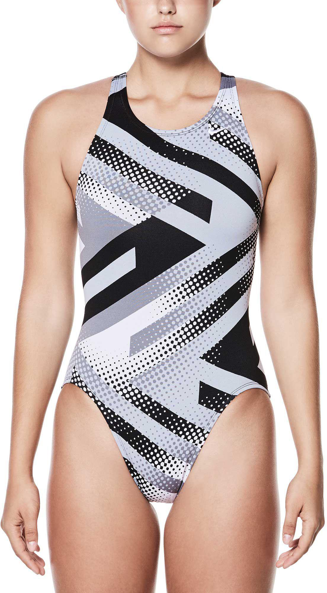 a25c4ee863d Lyst - Nike Tidal Riot Fast Back Swimsuit in Black