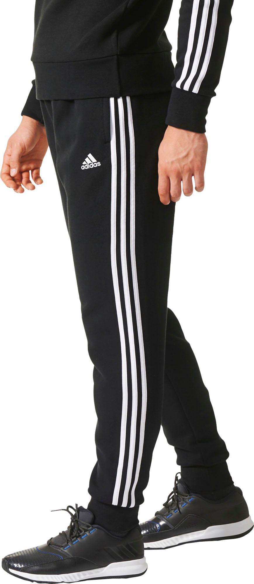 Men's Black Essentials 3 stripes Jogger Pants