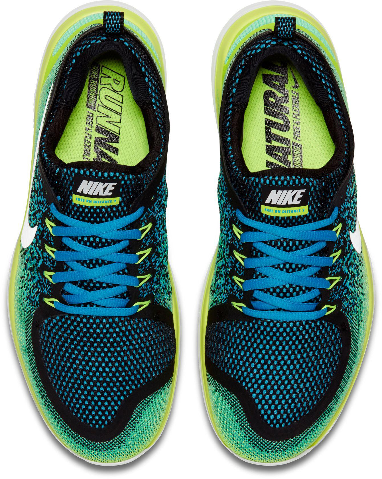 3702f62917c Lyst - Nike Free Rn Distance 2 Running Shoes in Green for Men
