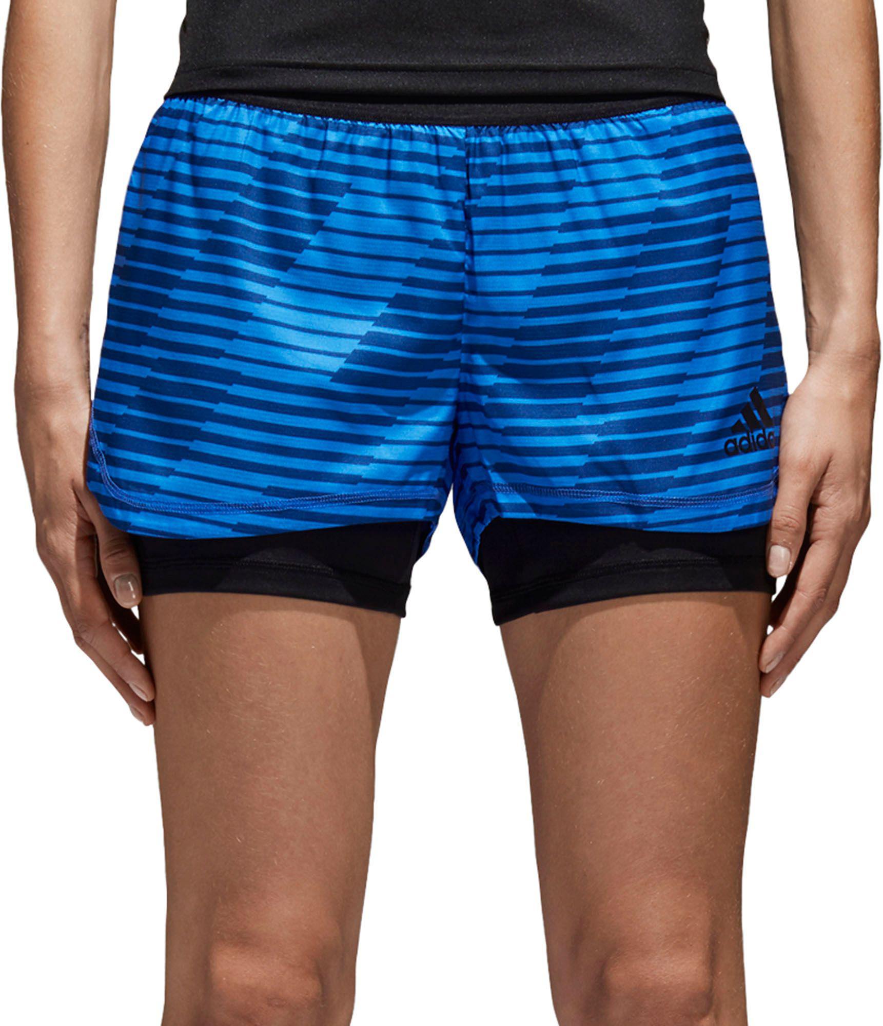 Lyst - adidas Tango 2-in-1 Shorts in Blue 64670447e4b53