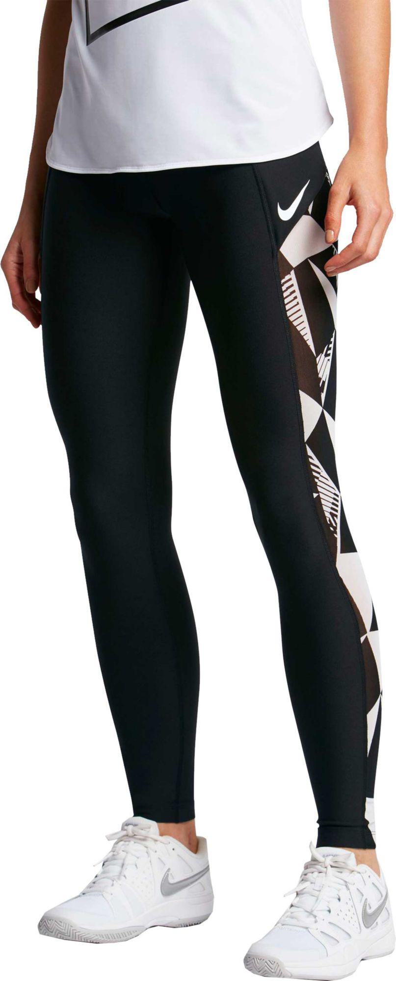 Lyst - Nike Court Baseline Tennis Leggings in Black bc4bb2ce431