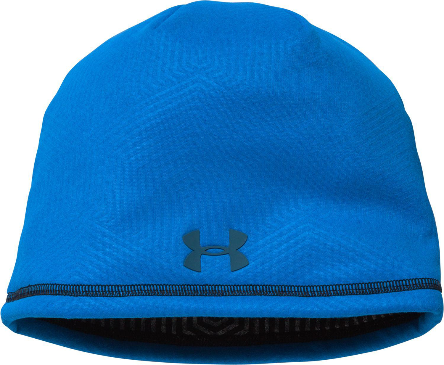 6712e332b62 Under Armour - Blue Coldgear Infrared Elements Storm 2.0 Beanie for Men -  Lyst