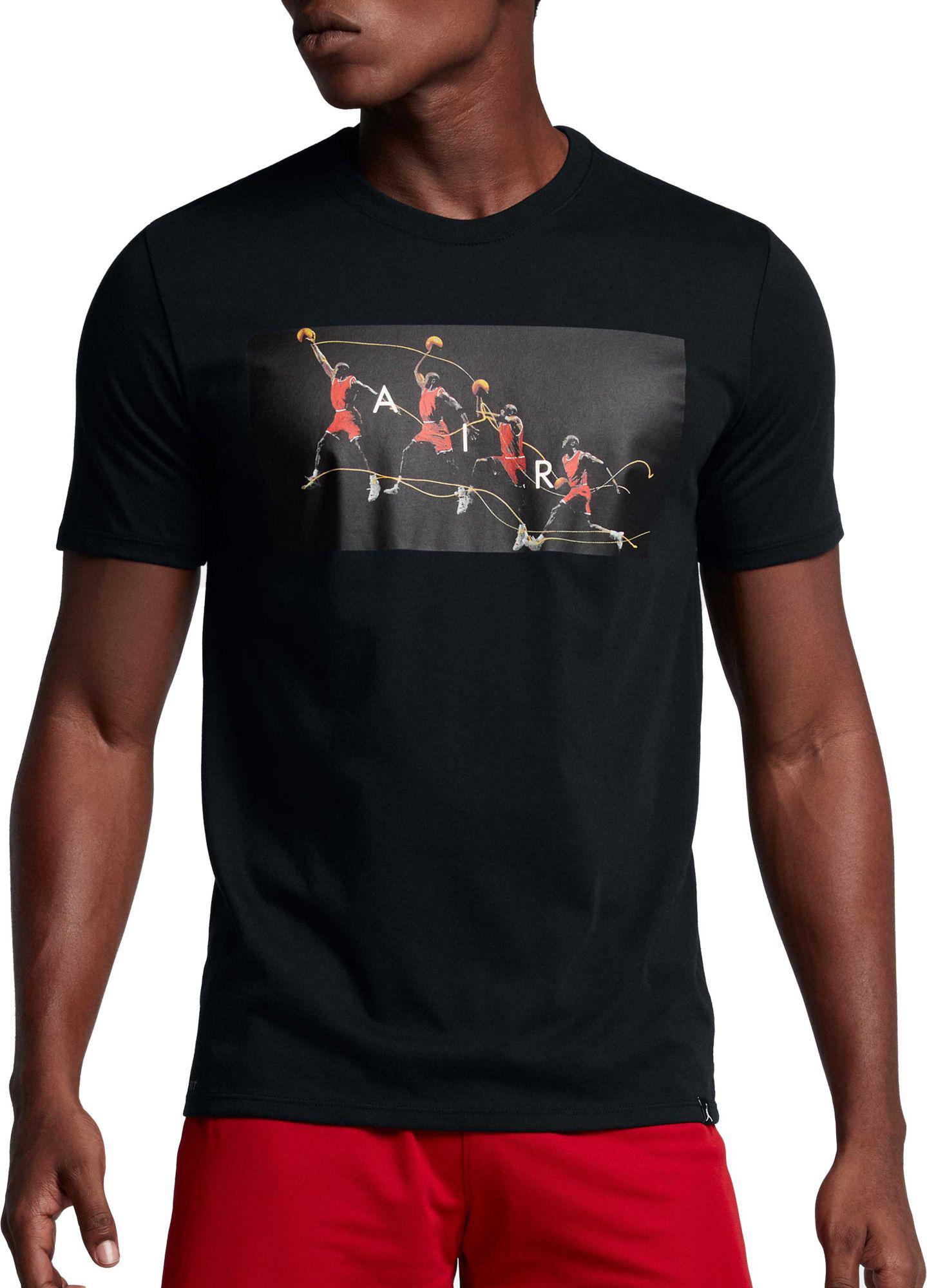 3ef52674135d4a Lyst - Nike Jordan Dry Flight Photo Basketball Graphic T-shirt in ...