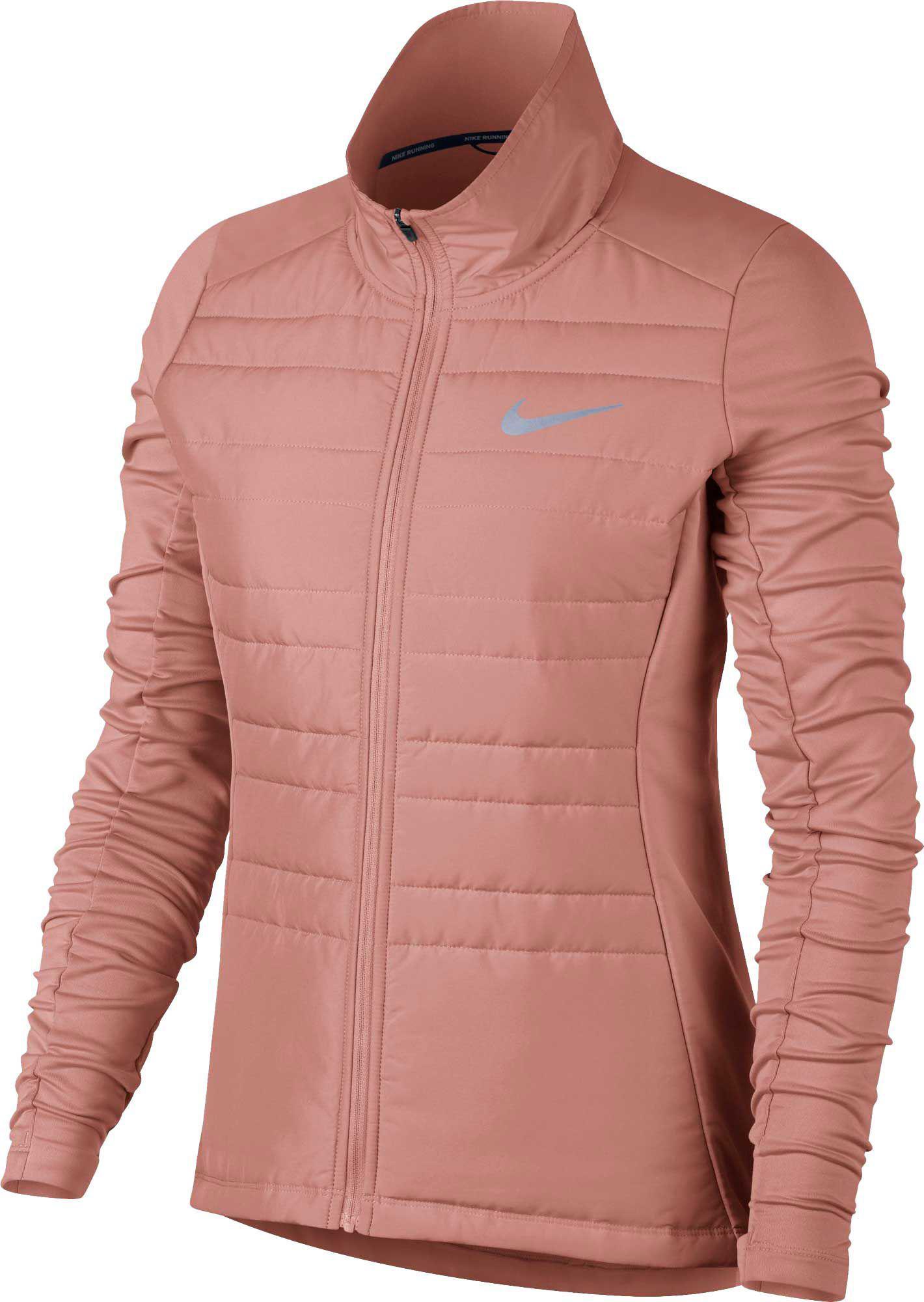 8c3cb74f1cab Lyst - Nike Essential Full Zip Running Jacket in Pink