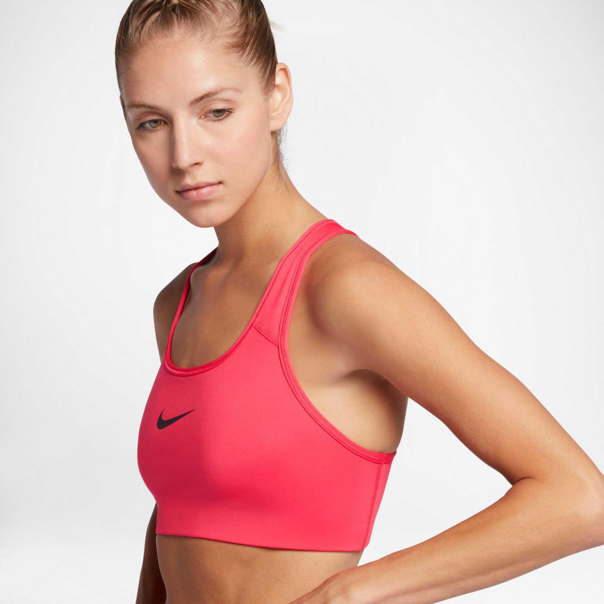 391b89e59 Lyst - Nike Pro Classic Swoosh Compression Sports Bra in Red