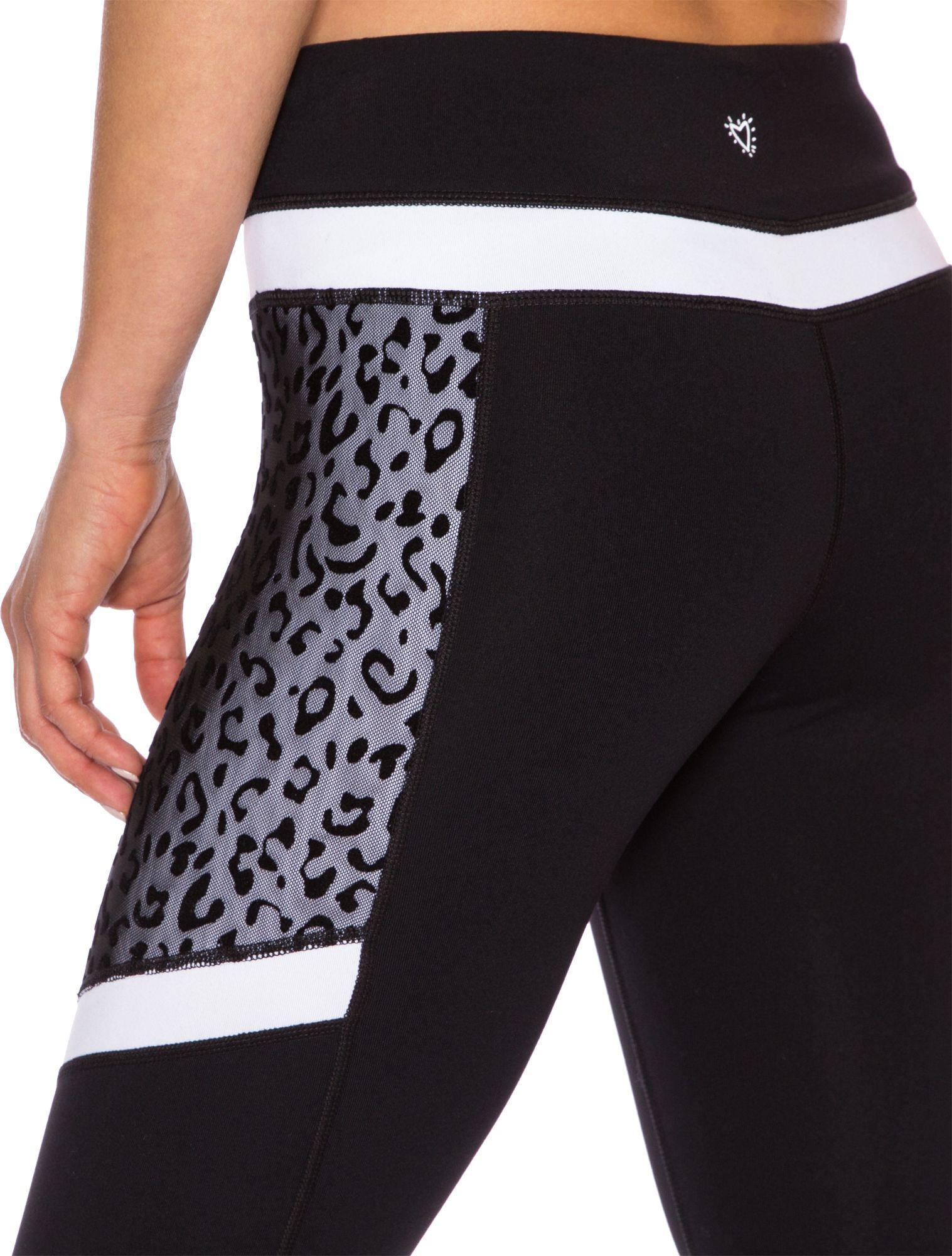 d473f39f2b9d Betsey Johnson Performance Leopard Colorblock Leggings in Black - Lyst