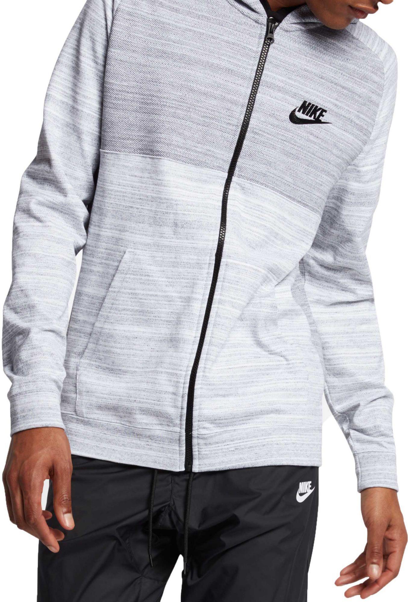 4966ae98a69c Lyst - Nike Sportswear Advance 15 Full-zip Knit Hoodie in White for Men