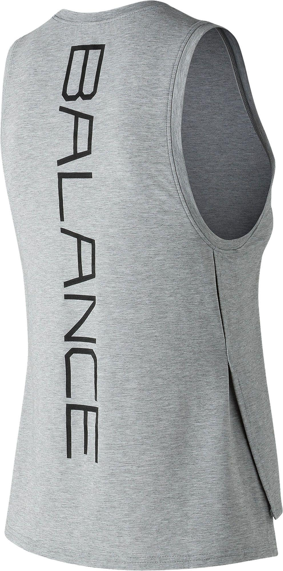 730b3c8f026ec Lyst - New Balance Graphic Layering Tank Top in Gray