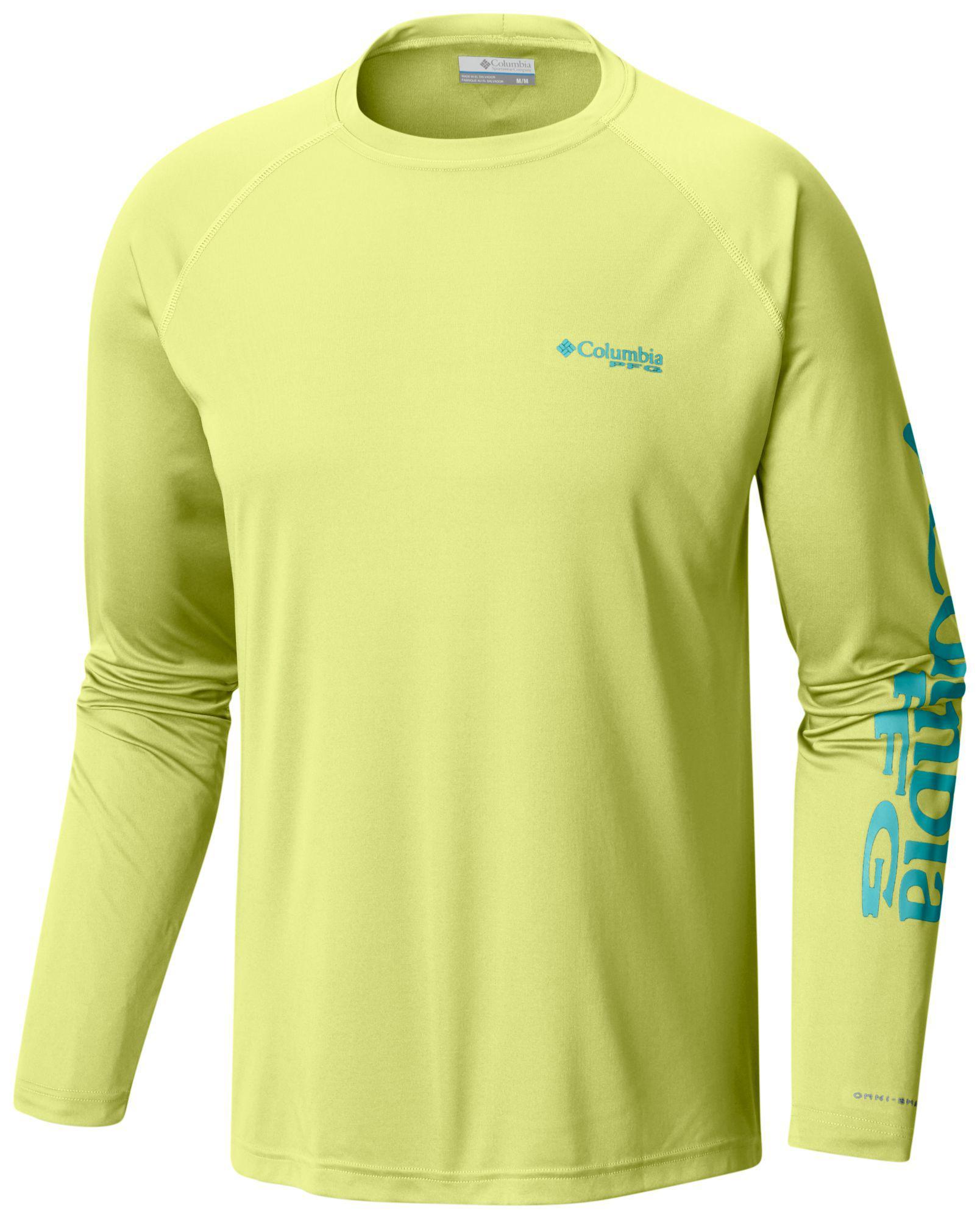 8dec276e096 Columbia Pfg Terminal Tackle Long Sleeve Shirt in Yellow for Men - Lyst