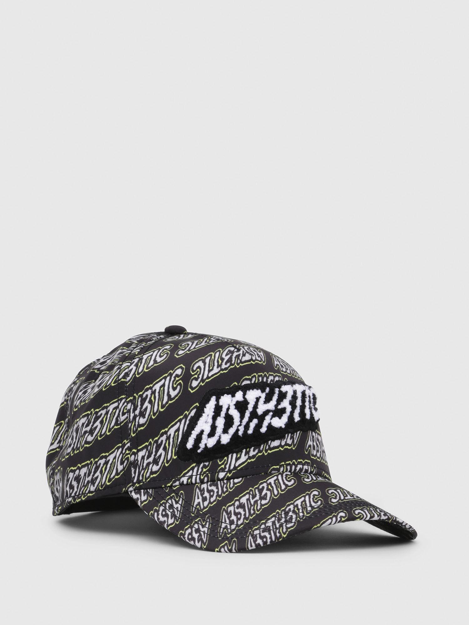 d4ceb58cd69 DIESEL Printed Baseball Cap With Patch in Black - Lyst