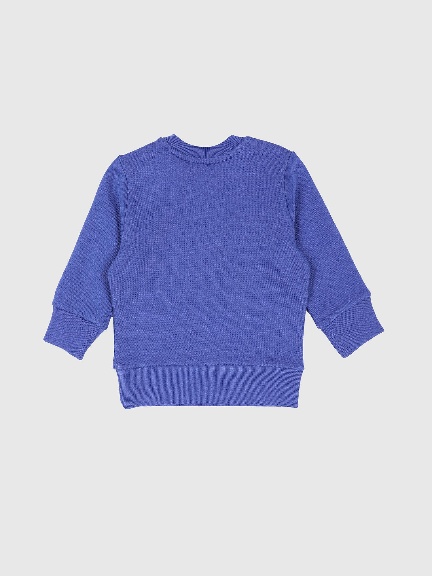 b14a703da DIESEL Cotton Sweatshirt With Double Logo in Blue for Men - Lyst