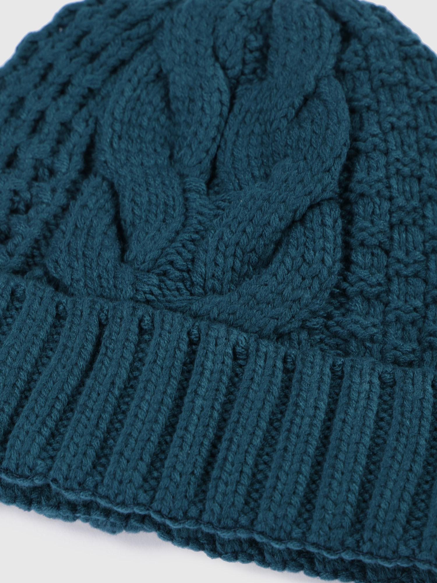 712f4f6870f DIESEL - Green Knitted Hat With Ribbed Turn-up - Lyst. View fullscreen