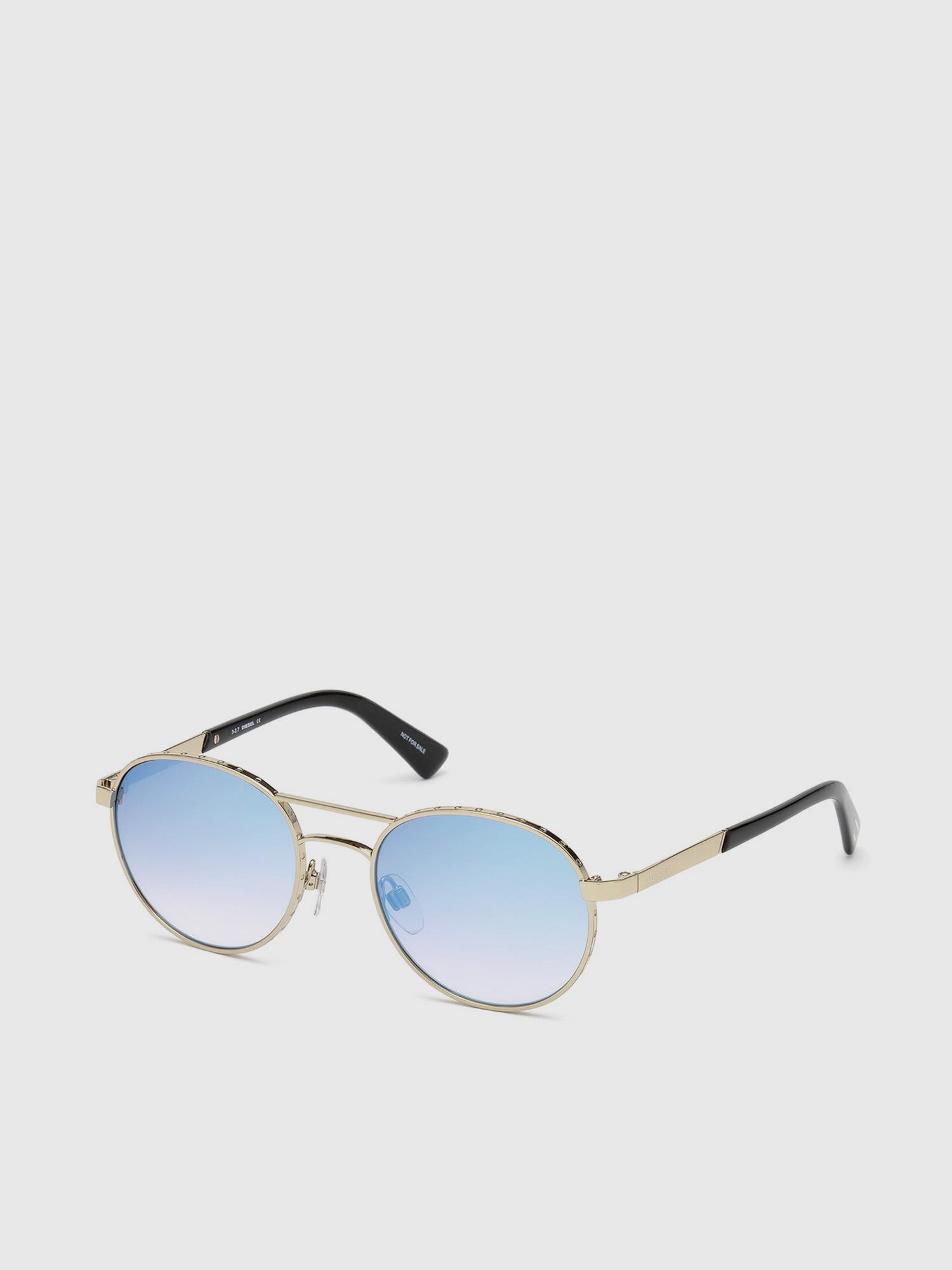 2923ffa3e3 Lyst - DIESEL Eyewear With Metal Front And Acetate Temple in Metallic