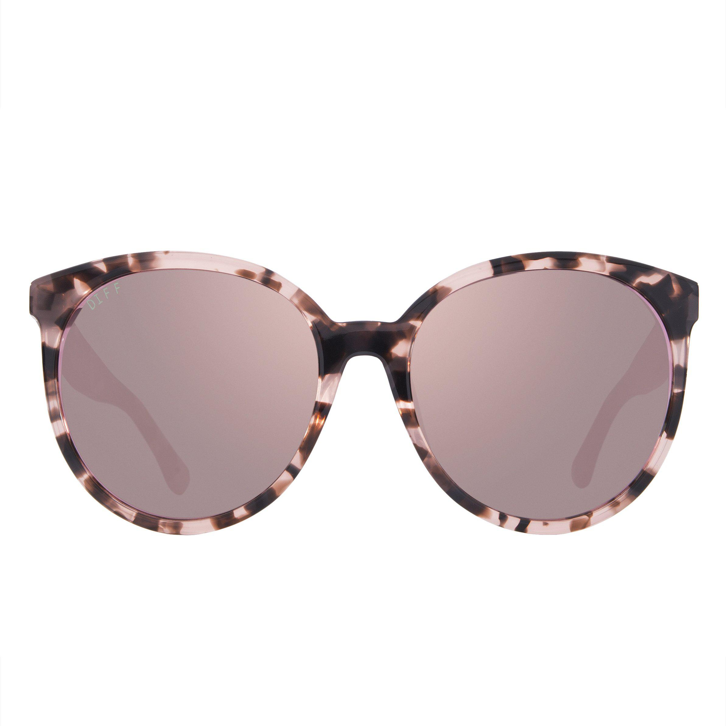 8939fede9c Lyst - DIFF Cosmo - Himalayan Tortoise + Taupe Flash + Polarized