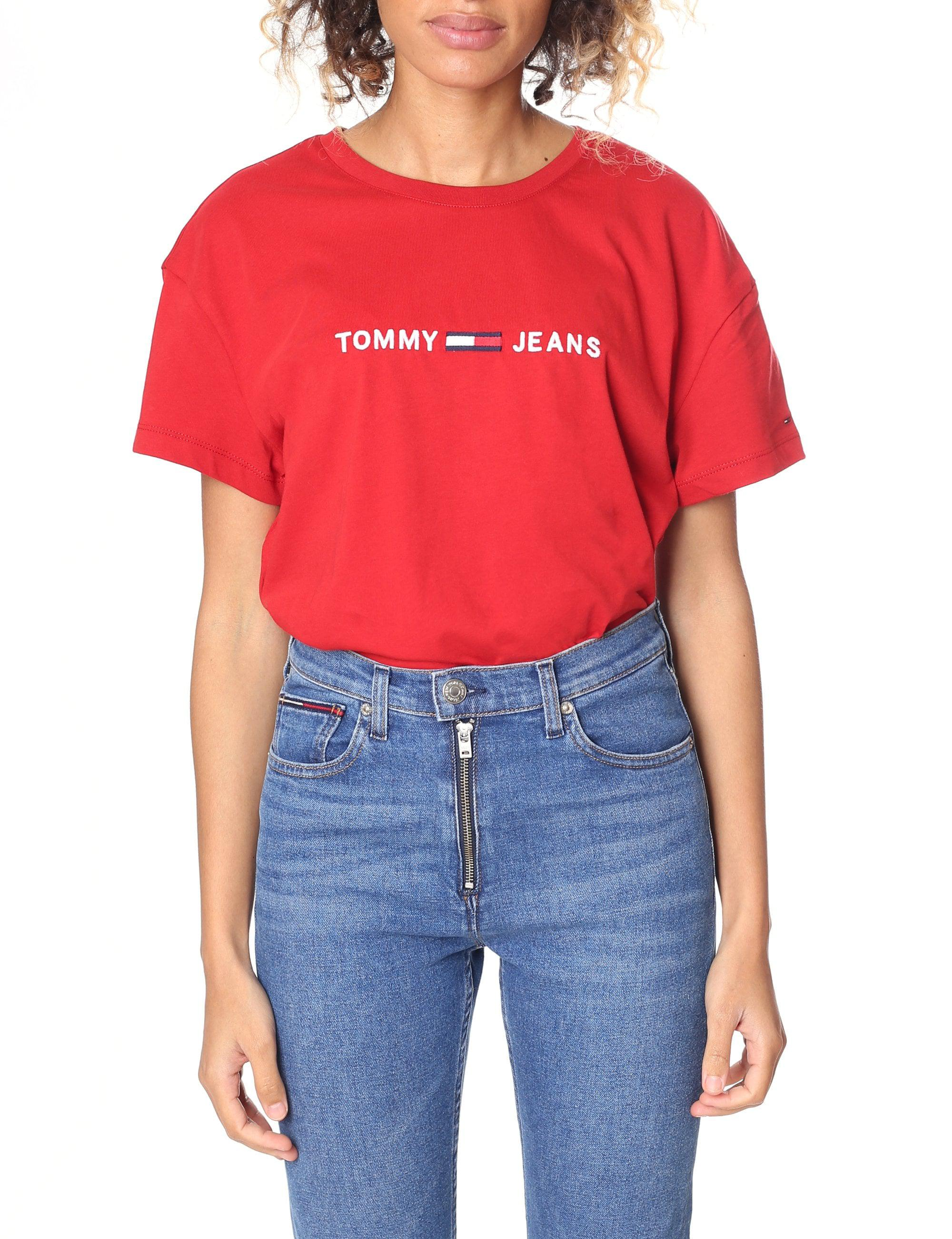 2ded3760 Tommy Jeans Clean Red Logo T Shirt - raveitsafe