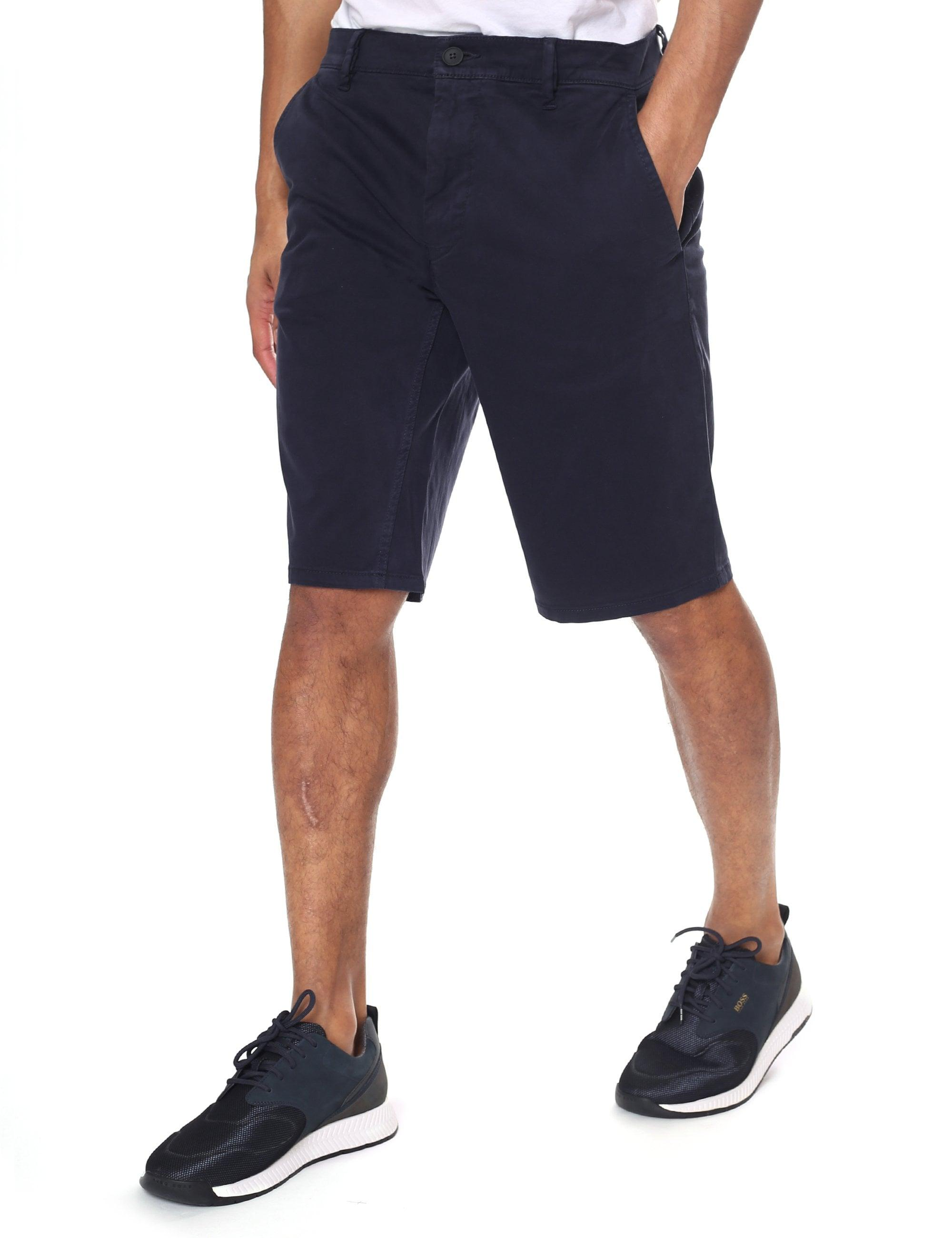 5d966cfa BOSS Slim-fit Chino Shorts in Blue for Men - Lyst