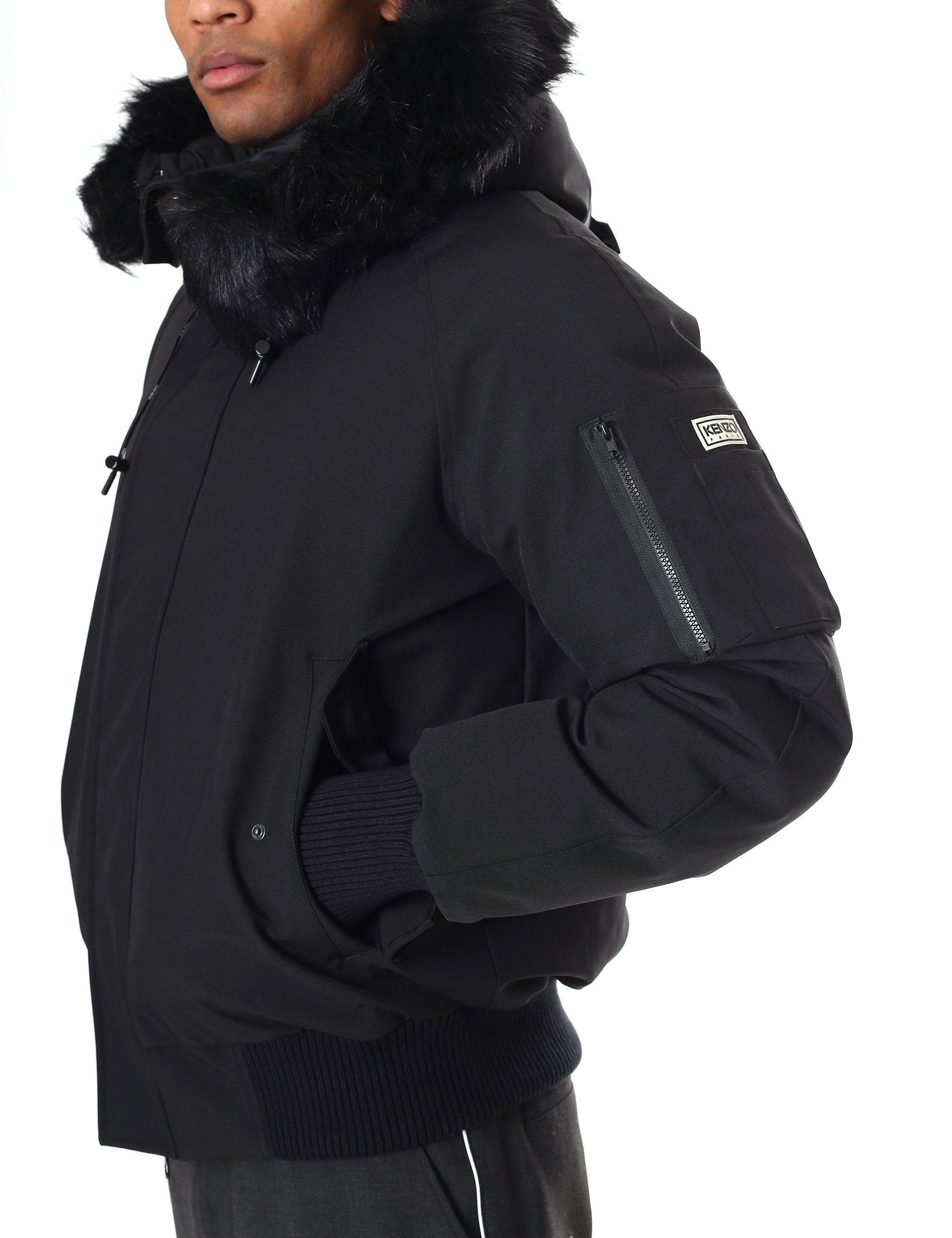 c2d774a30 KENZO Men's Technic Canvas Winter Blouson in Black for Men - Lyst