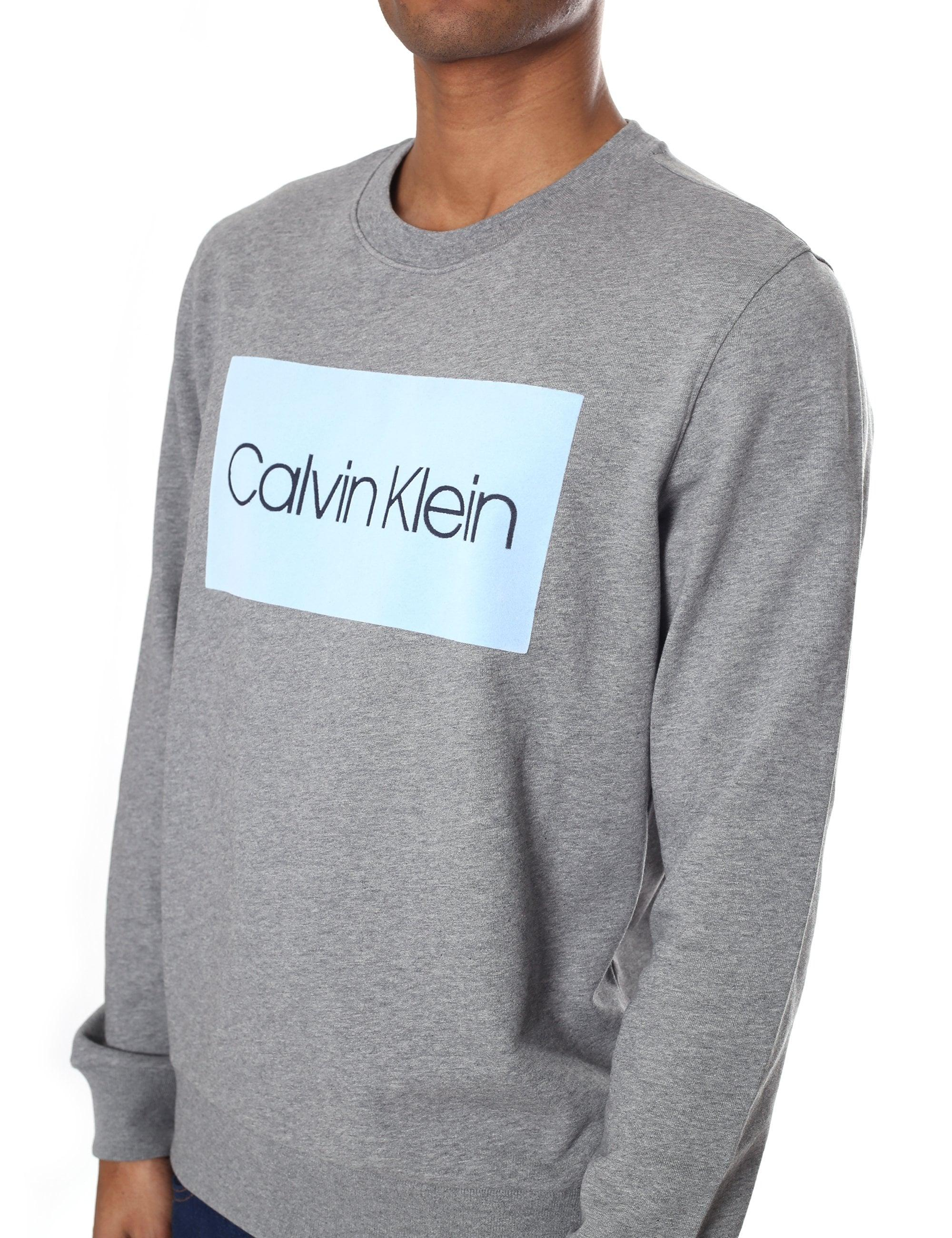 For Sweatshirt In Calvin Klein Logo Elevated Gray Lyst Cotton Men qRBwI0F
